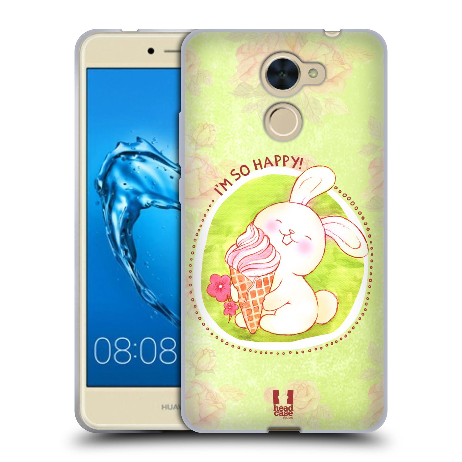 Silikonové pouzdro na mobil Huawei Y7 - Head Case - KRÁLÍČEK A ZMRZKA