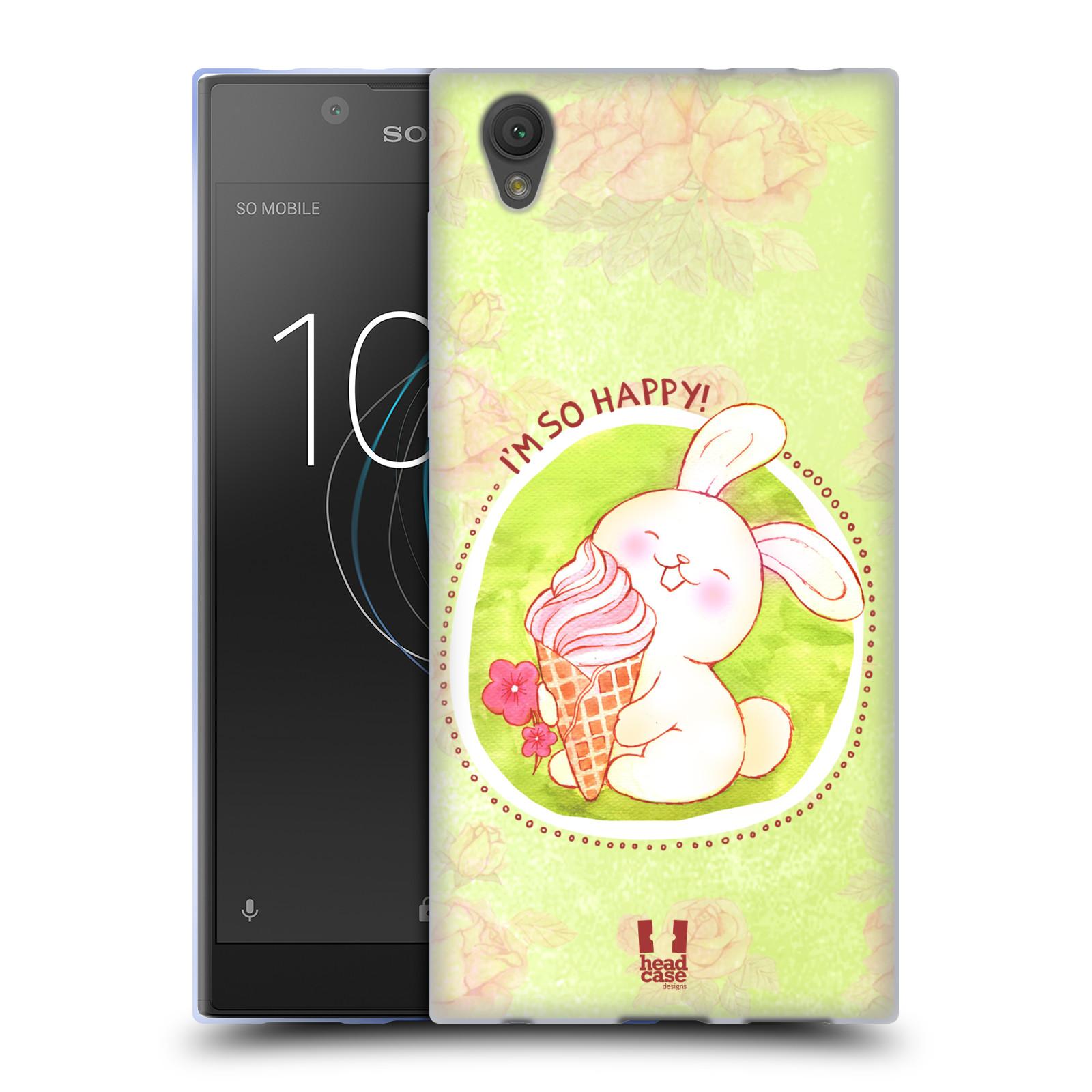 Silikonové pouzdro na mobil Sony Xperia L1 - Head Case - KRÁLÍČEK A ZMRZKA