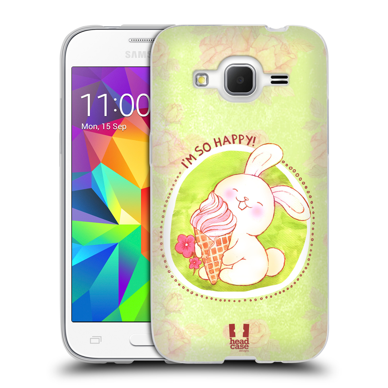 Silikonové pouzdro na mobil Samsung Galaxy Core Prime LTE HEAD CASE KRÁLÍČEK A ZMRZKA