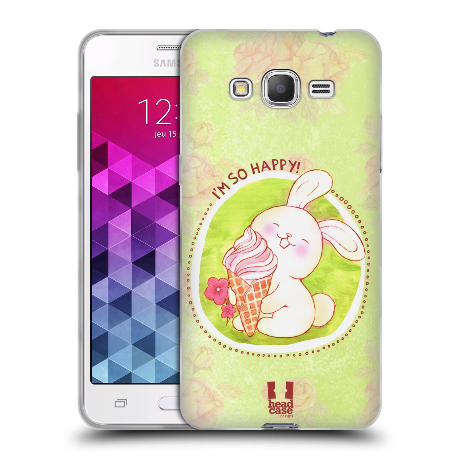 Silikonové pouzdro na mobil Samsung Galaxy Grand Prime VE HEAD CASE KRÁLÍČEK A ZMRZKA