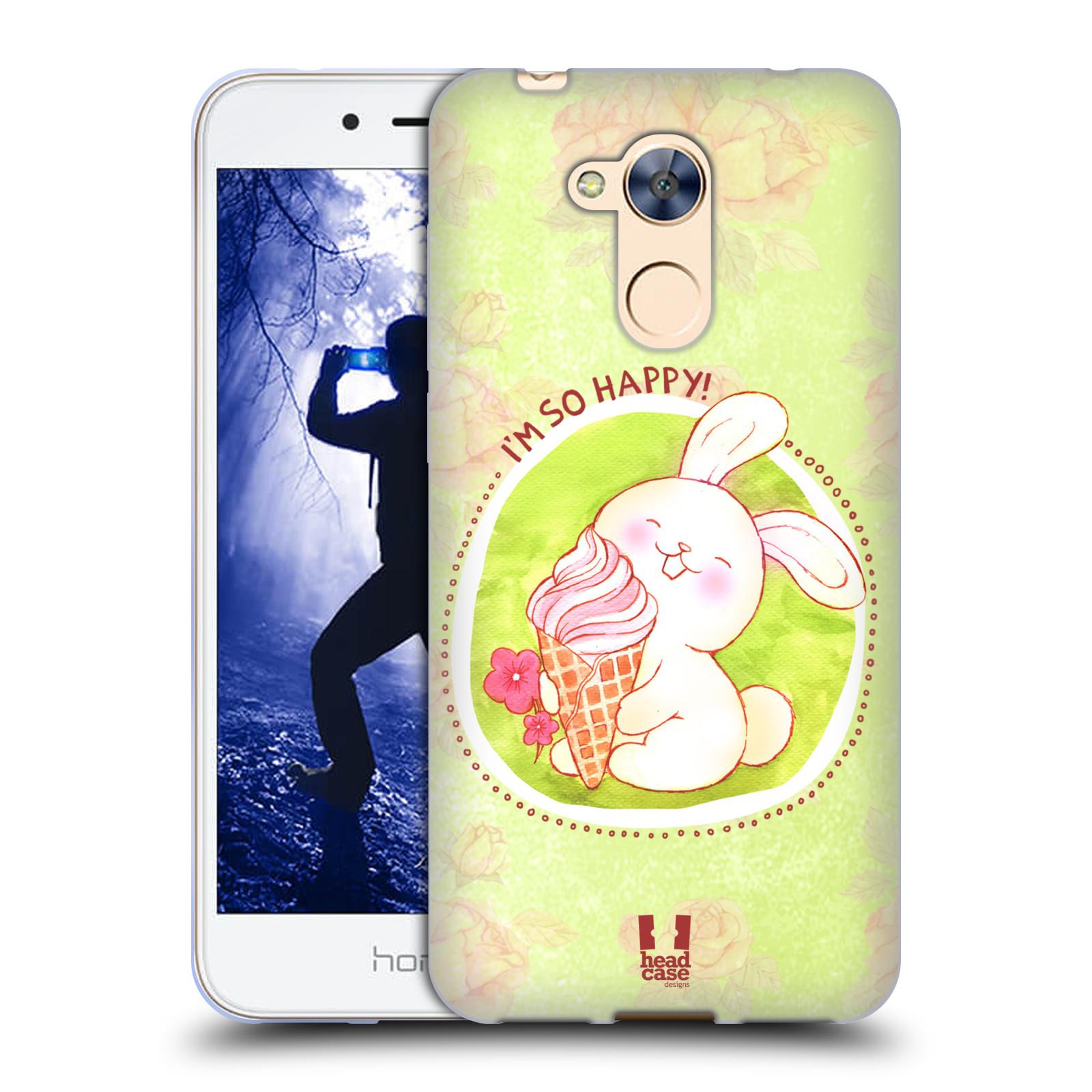 Silikonové pouzdro na mobil Honor 6A - Head Case - KRÁLÍČEK A ZMRZKA