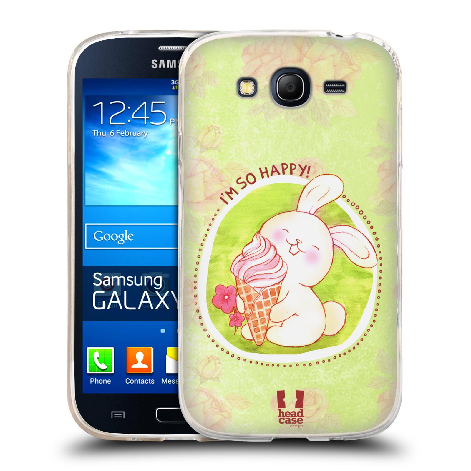 Silikonové pouzdro na mobil Samsung Galaxy Grand Neo Plus HEAD CASE KRÁLÍČEK A ZMRZKA
