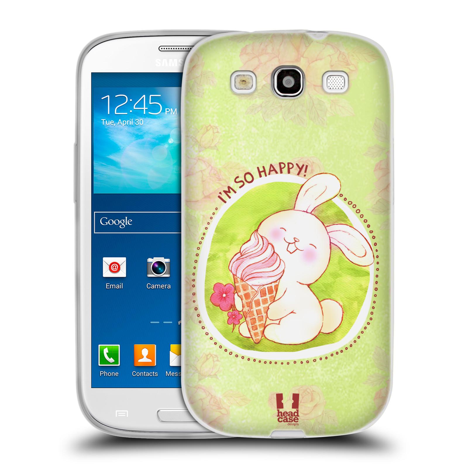 Silikonové pouzdro na mobil Samsung Galaxy S3 Neo HEAD CASE KRÁLÍČEK A ZMRZKA