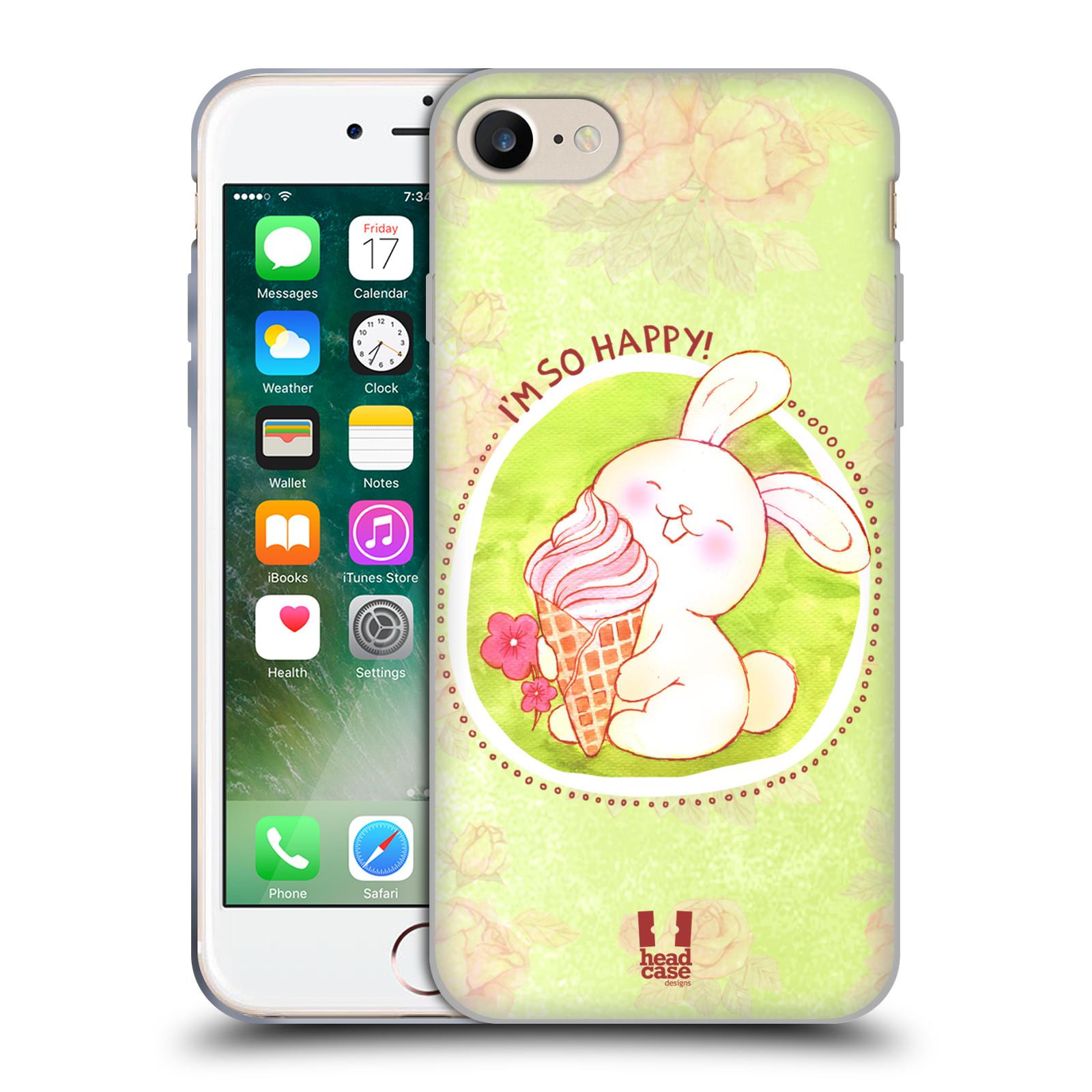 Silikonové pouzdro na mobil Apple iPhone 8 - Head Case - KRÁLÍČEK A ZMRZKA