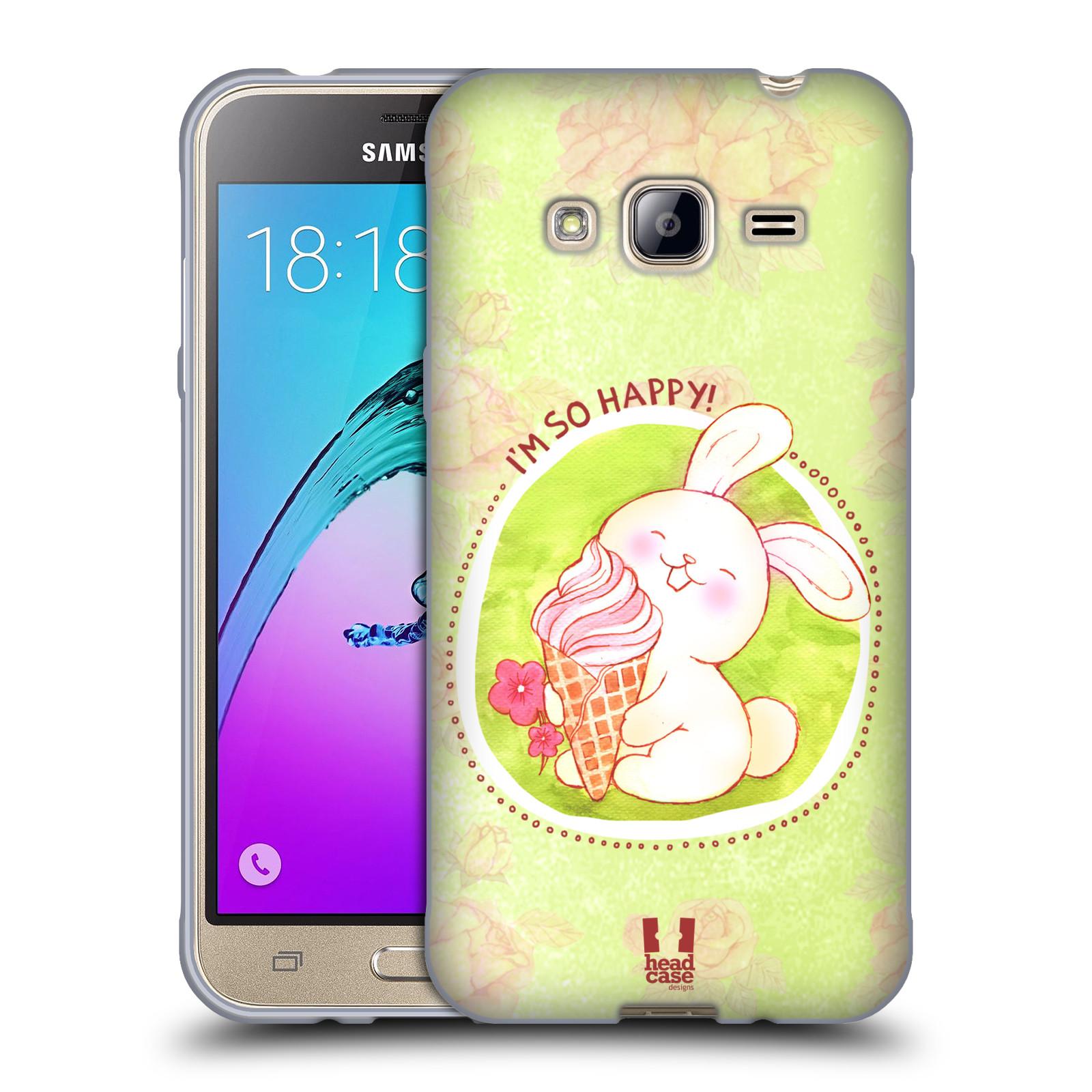 Silikonové pouzdro na mobil Samsung Galaxy J3 (2016) HEAD CASE KRÁLÍČEK A ZMRZKA