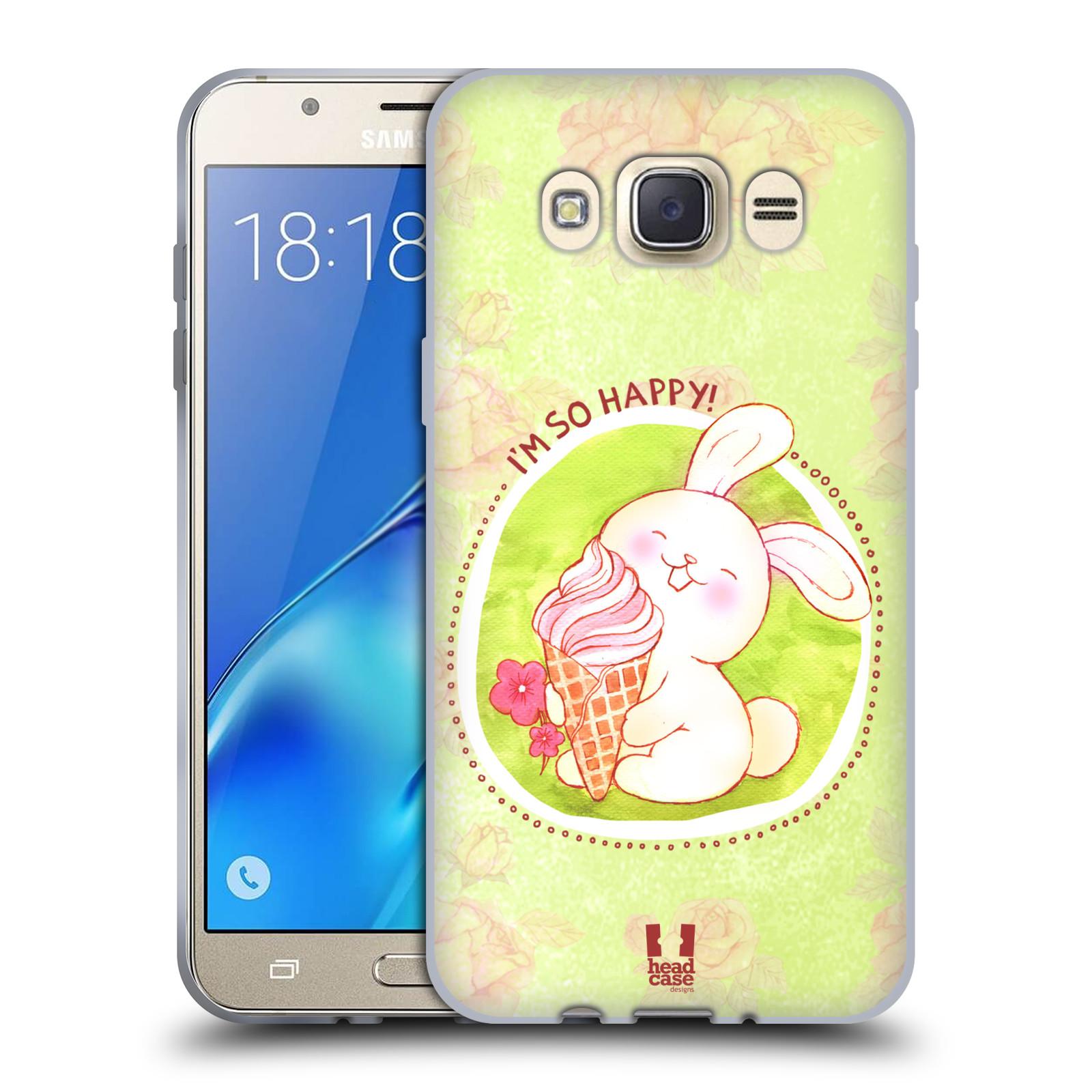 Silikonové pouzdro na mobil Samsung Galaxy J7 (2016) HEAD CASE KRÁLÍČEK A ZMRZKA