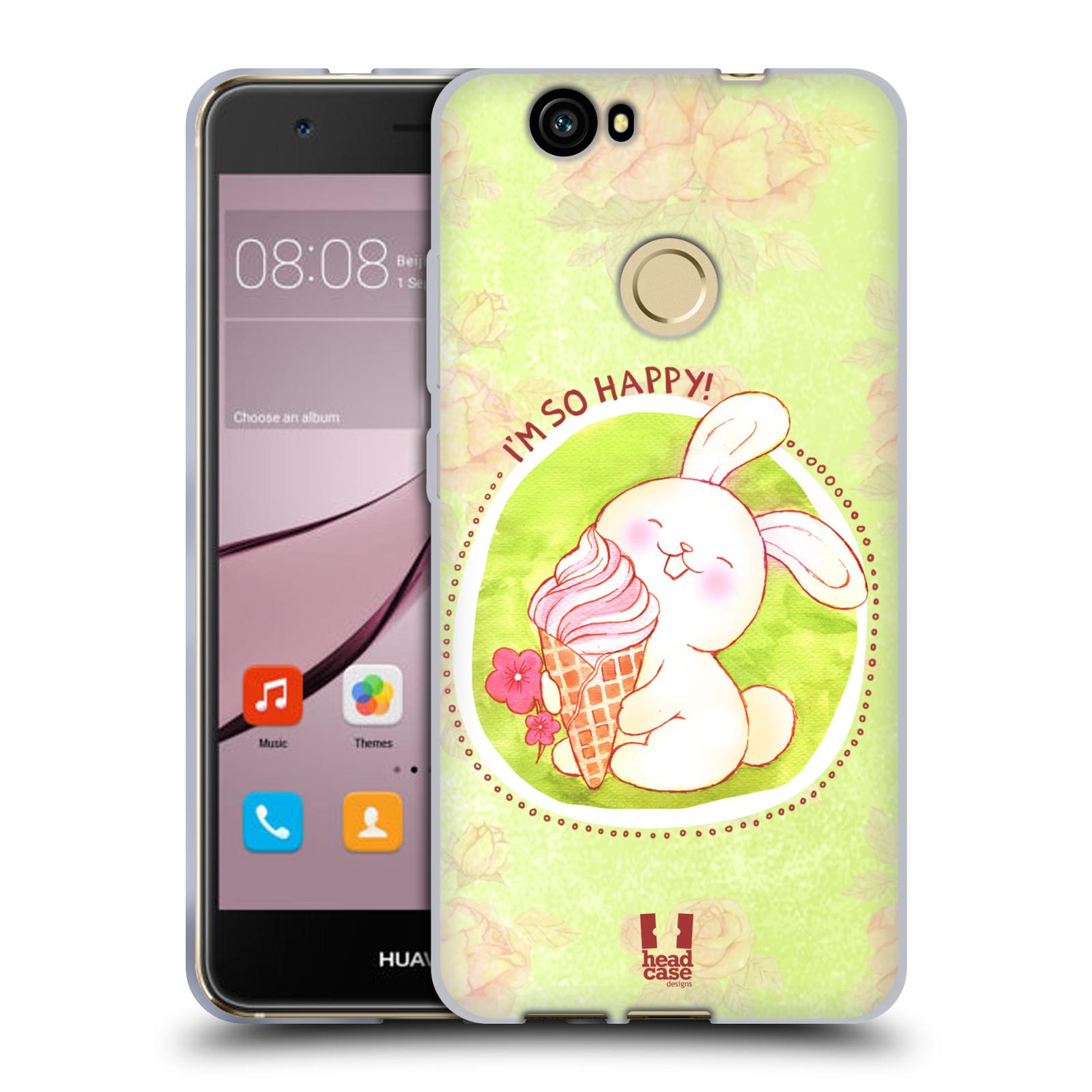Silikonové pouzdro na mobil Huawei Nova - Head Case - KRÁLÍČEK A ZMRZKA