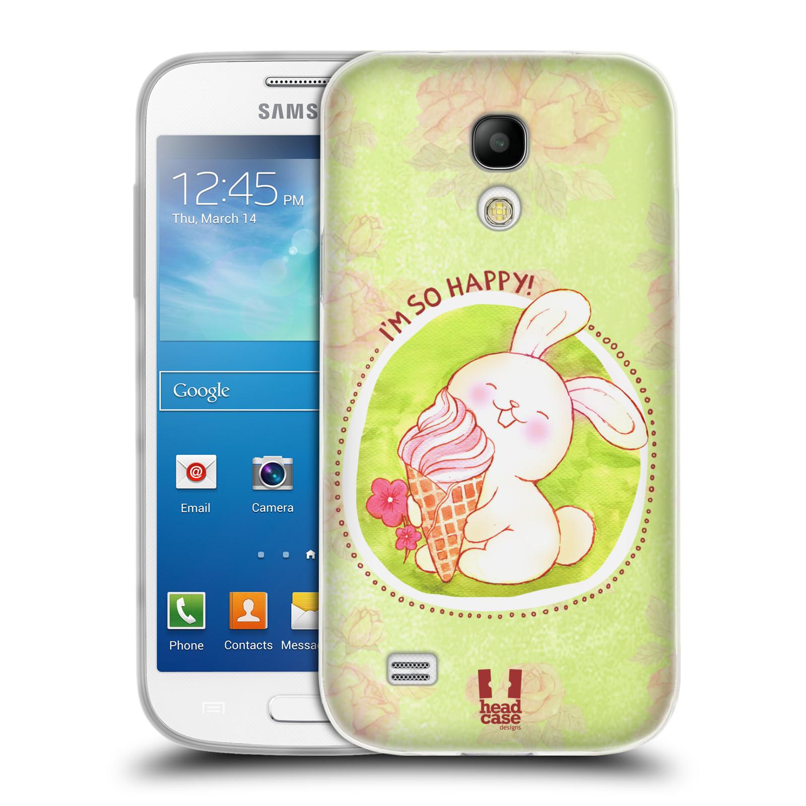 Silikonové pouzdro na mobil Samsung Galaxy S4 Mini HEAD CASE KRÁLÍČEK A ZMRZKA