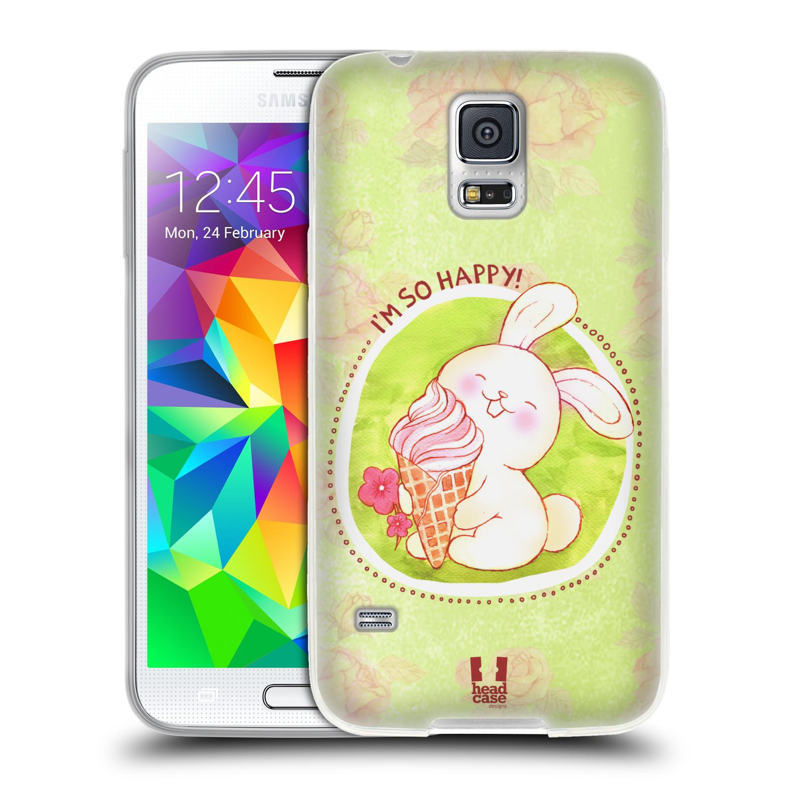 Silikonové pouzdro na mobil Samsung Galaxy S5 HEAD CASE KRÁLÍČEK A ZMRZKA