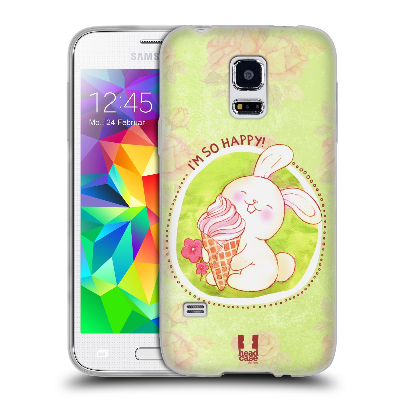 Silikonové pouzdro na mobil Samsung Galaxy S5 Mini HEAD CASE KRÁLÍČEK A ZMRZKA