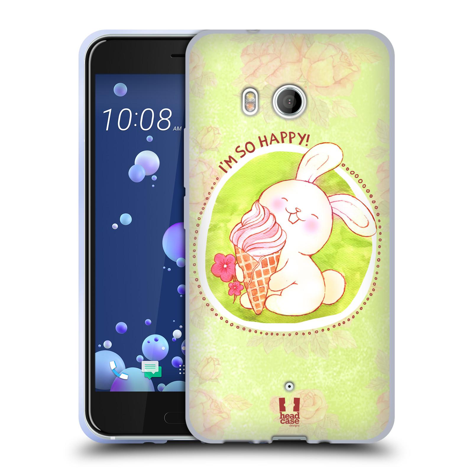 Silikonové pouzdro na mobil HTC U11 - Head Case - KRÁLÍČEK A ZMRZKA