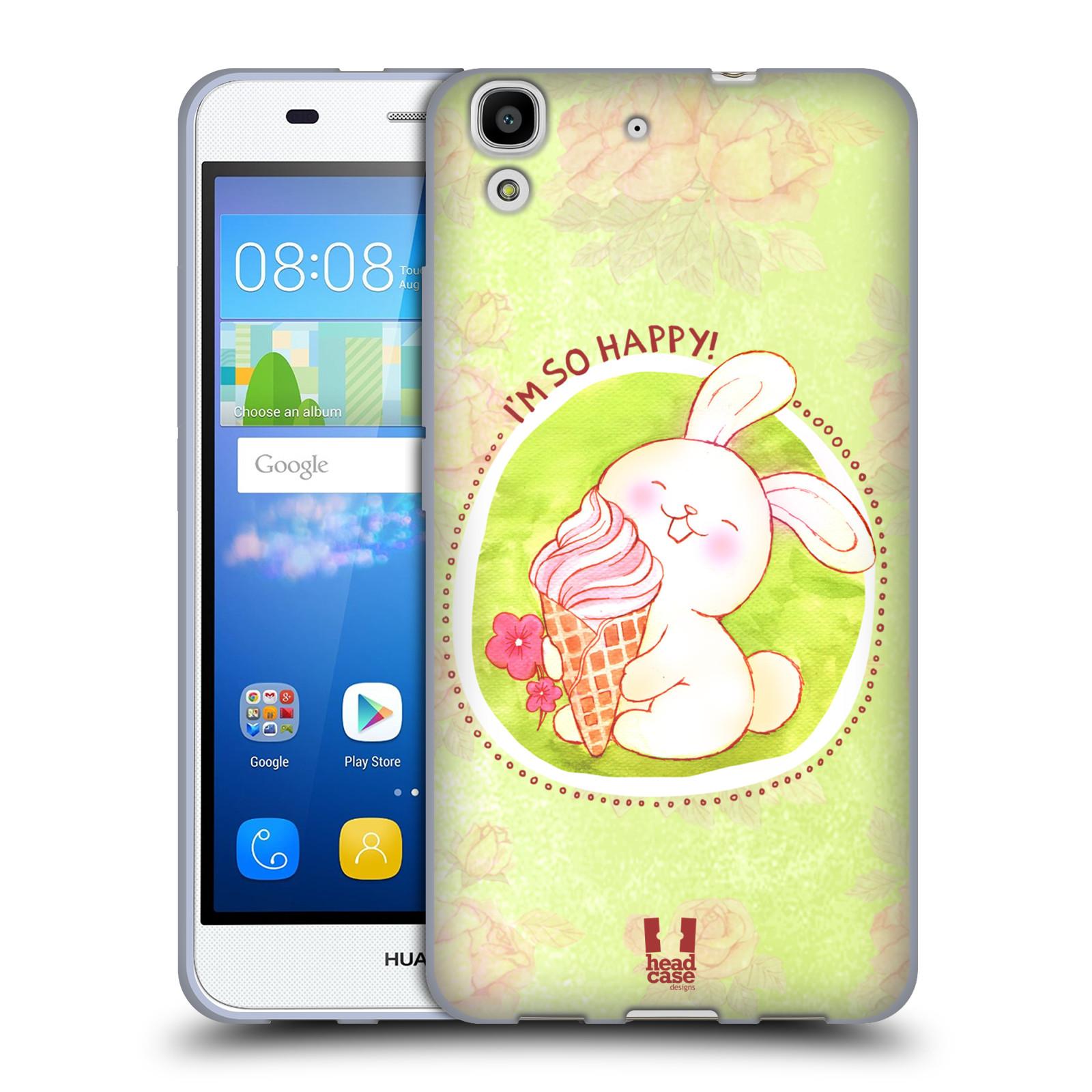 Silikonové pouzdro na mobil Huawei Y6 HEAD CASE KRÁLÍČEK A ZMRZKA