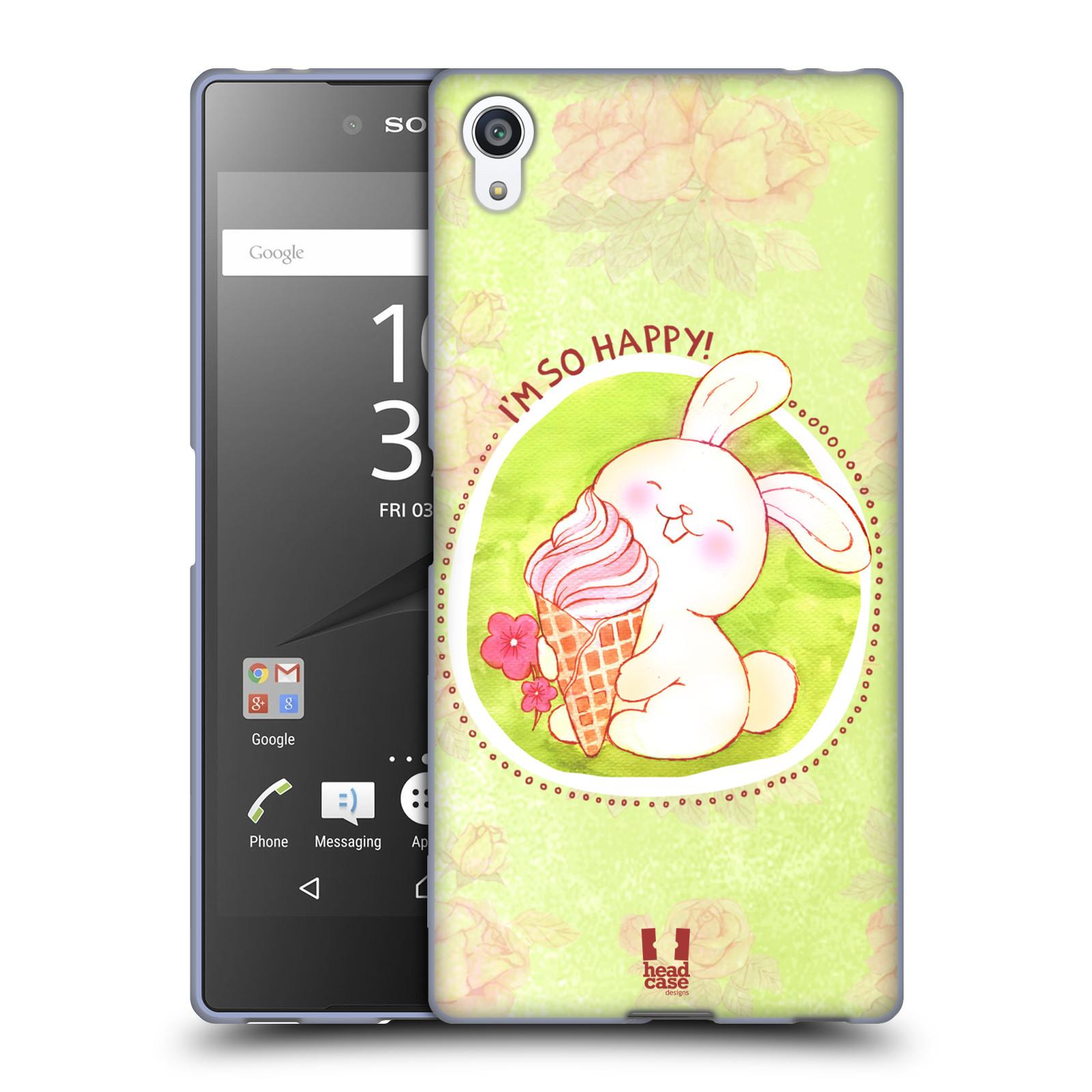 Silikonové pouzdro na mobil Sony Xperia Z5 Premium HEAD CASE KRÁLÍČEK A ZMRZKA
