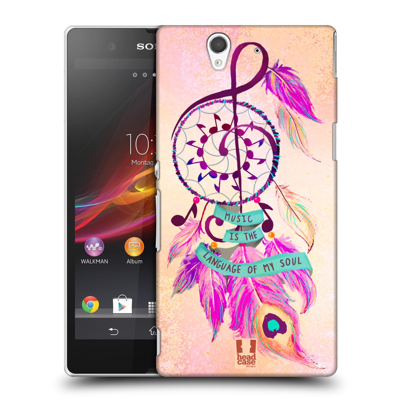 Plastové pouzdro na mobil Sony Xperia Z C6603 HEAD CASE Lapač Assorted Music