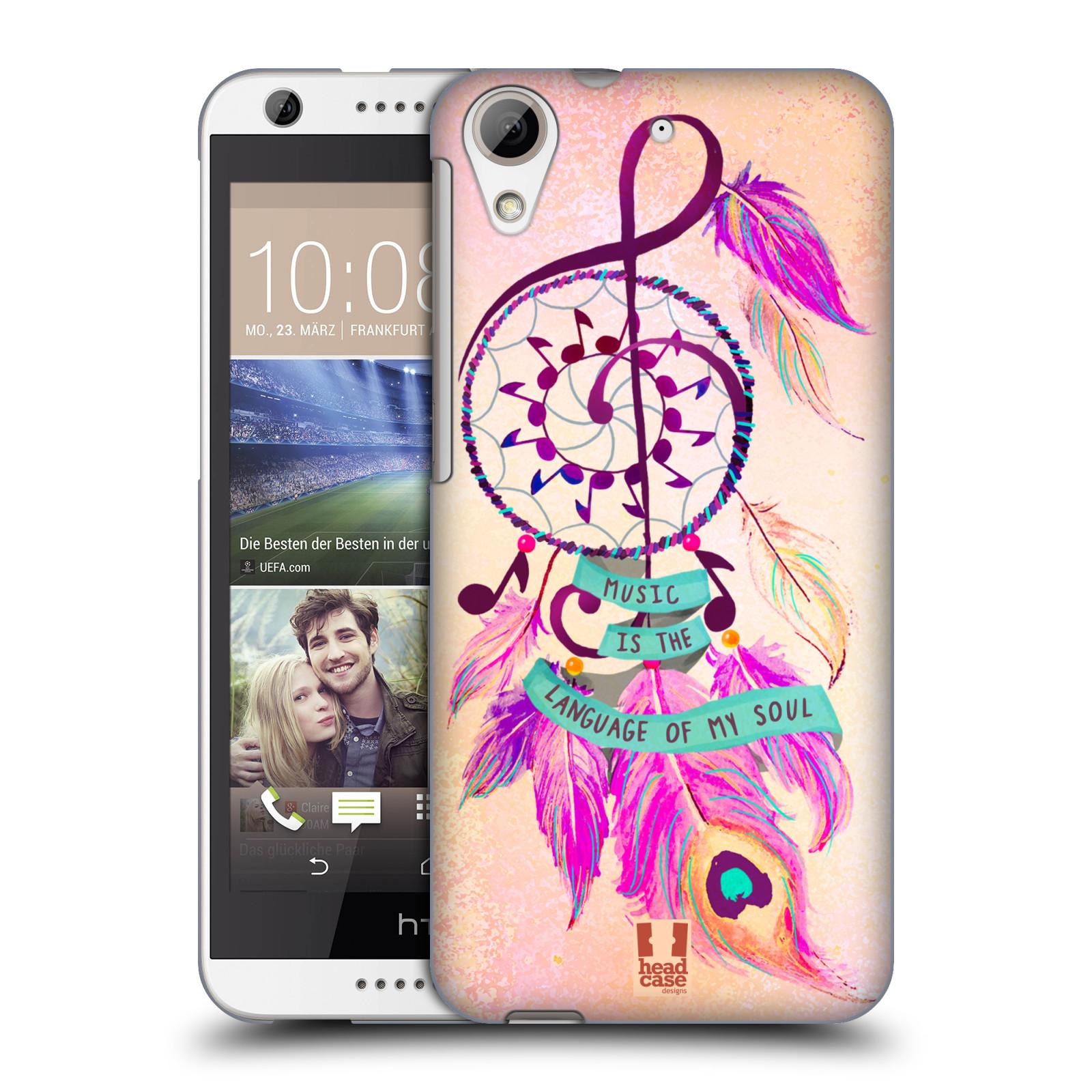 Plastové pouzdro na mobil HTC Desire 626 / 626G HEAD CASE Lapač Assorted Music (Kryt či obal na mobilní telefon HTC Desire 626G Dual SIM a HTC Desire 626)
