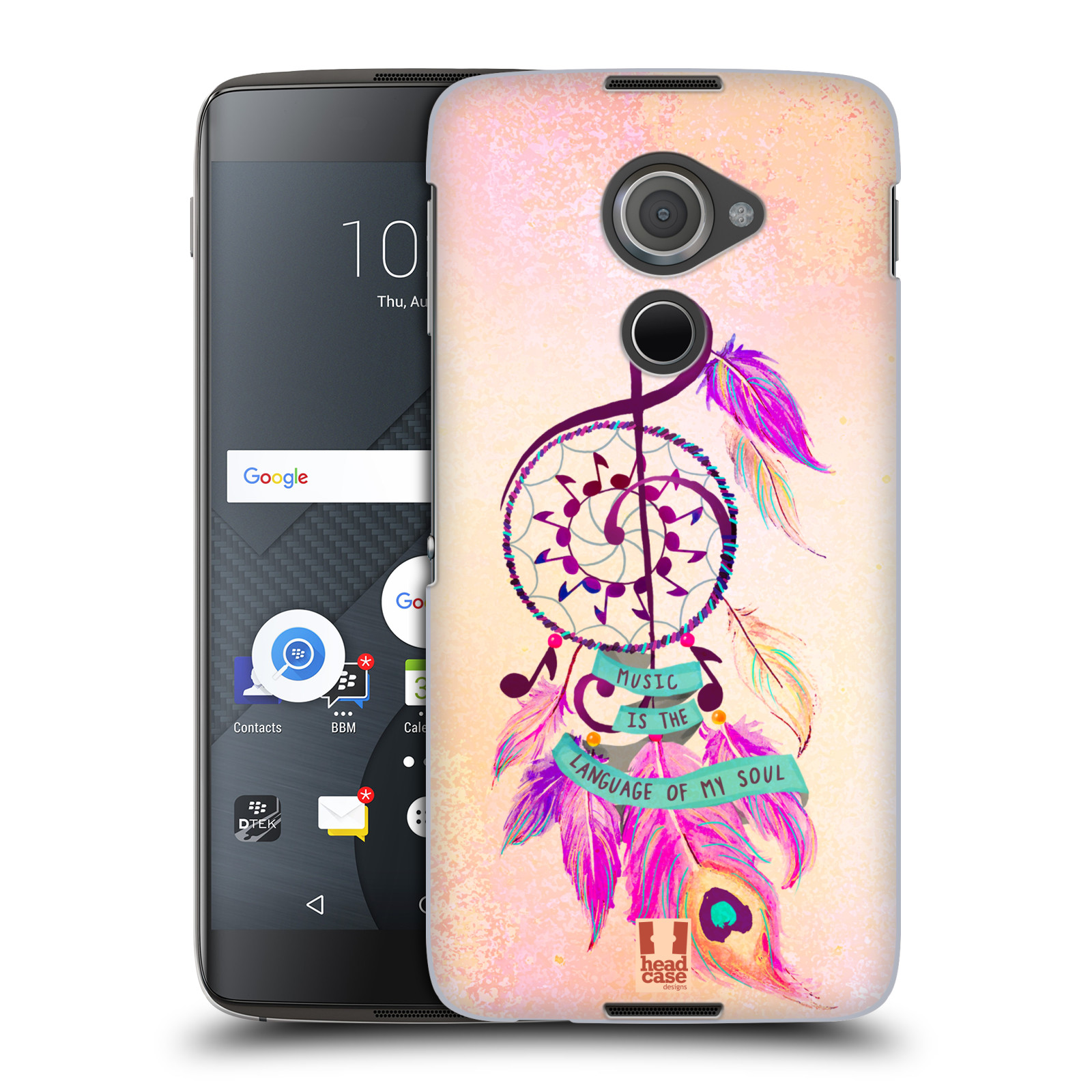 Plastové pouzdro na mobil Blackberry DTEK60 (Argon) - Head Case Lapač Assorted Music