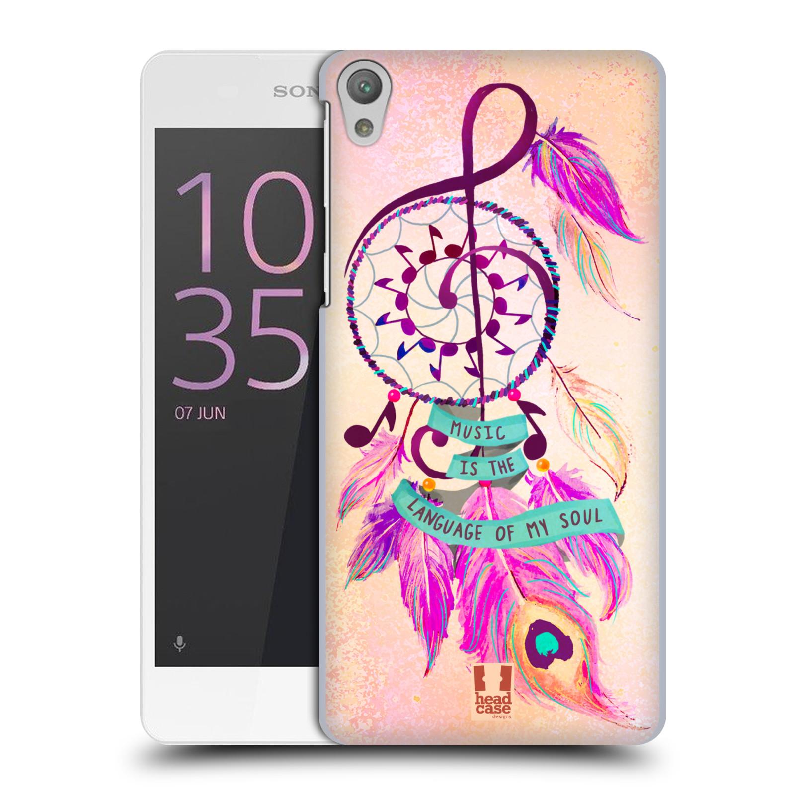 Plastové pouzdro na mobil Sony Xperia E5 HEAD CASE Lapač Assorted Music