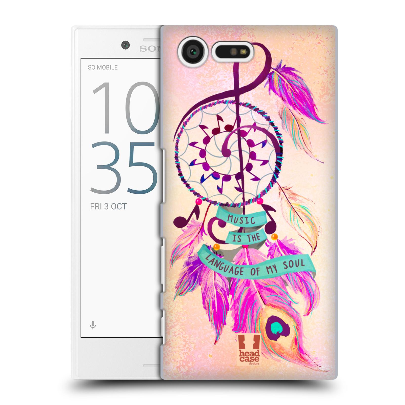 Plastové pouzdro na mobil Sony Xperia X Compact HEAD CASE Lapač Assorted Music