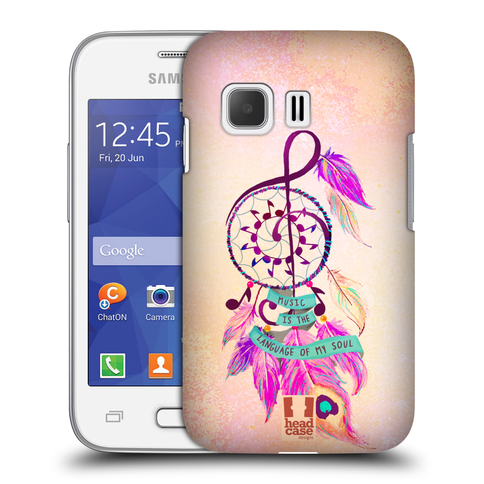Plastové pouzdro na mobil Samsung Galaxy Young 2 HEAD CASE Lapač Assorted Music (Kryt či obal na mobilní telefon Samsung Galaxy Young 2 SM-G130)