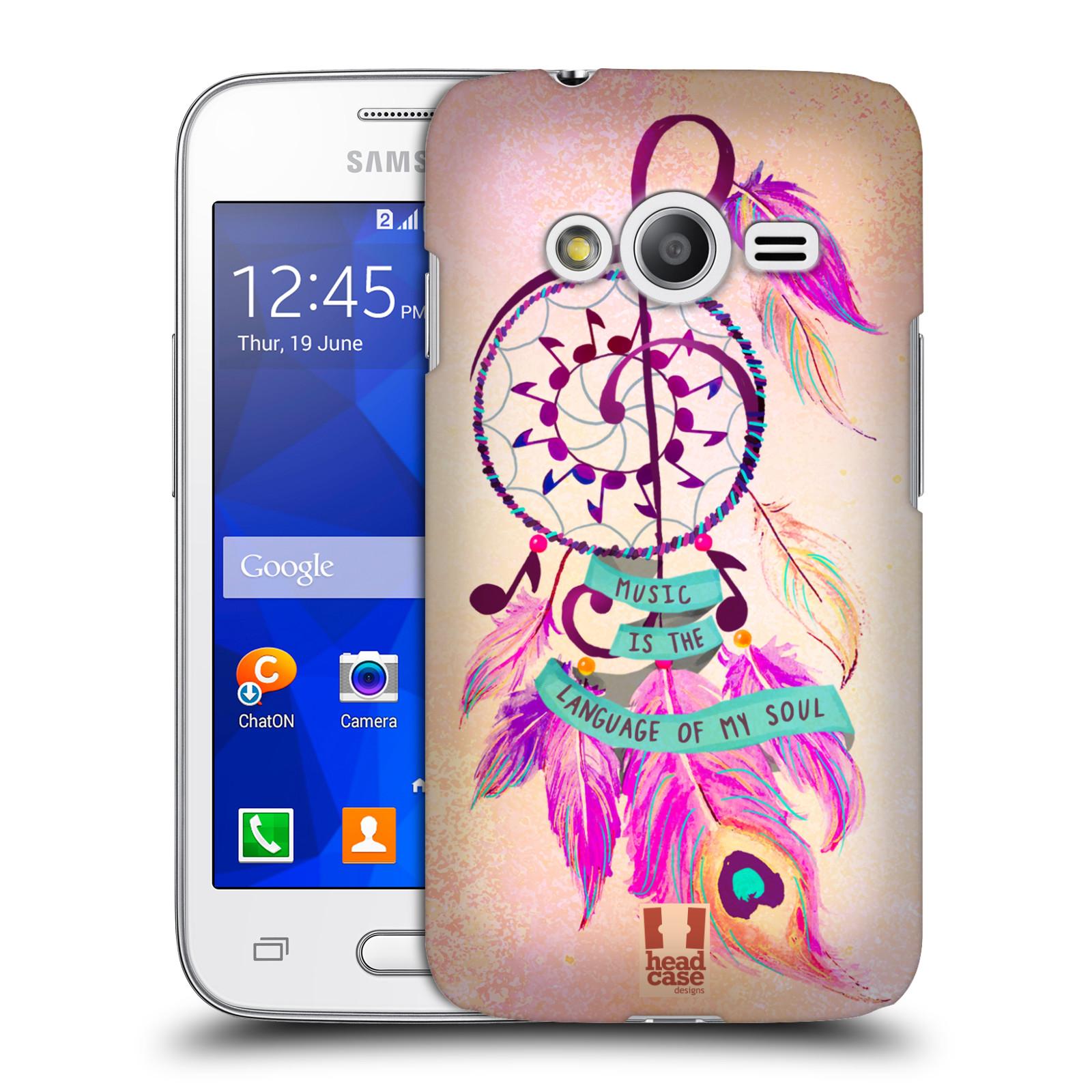 Plastové pouzdro na mobil Samsung Galaxy Trend 2 Lite HEAD CASE Lapač Assorted Music (Kryt či obal na mobilní telefon Samsung Galaxy Trend 2 Lite SM-G318)