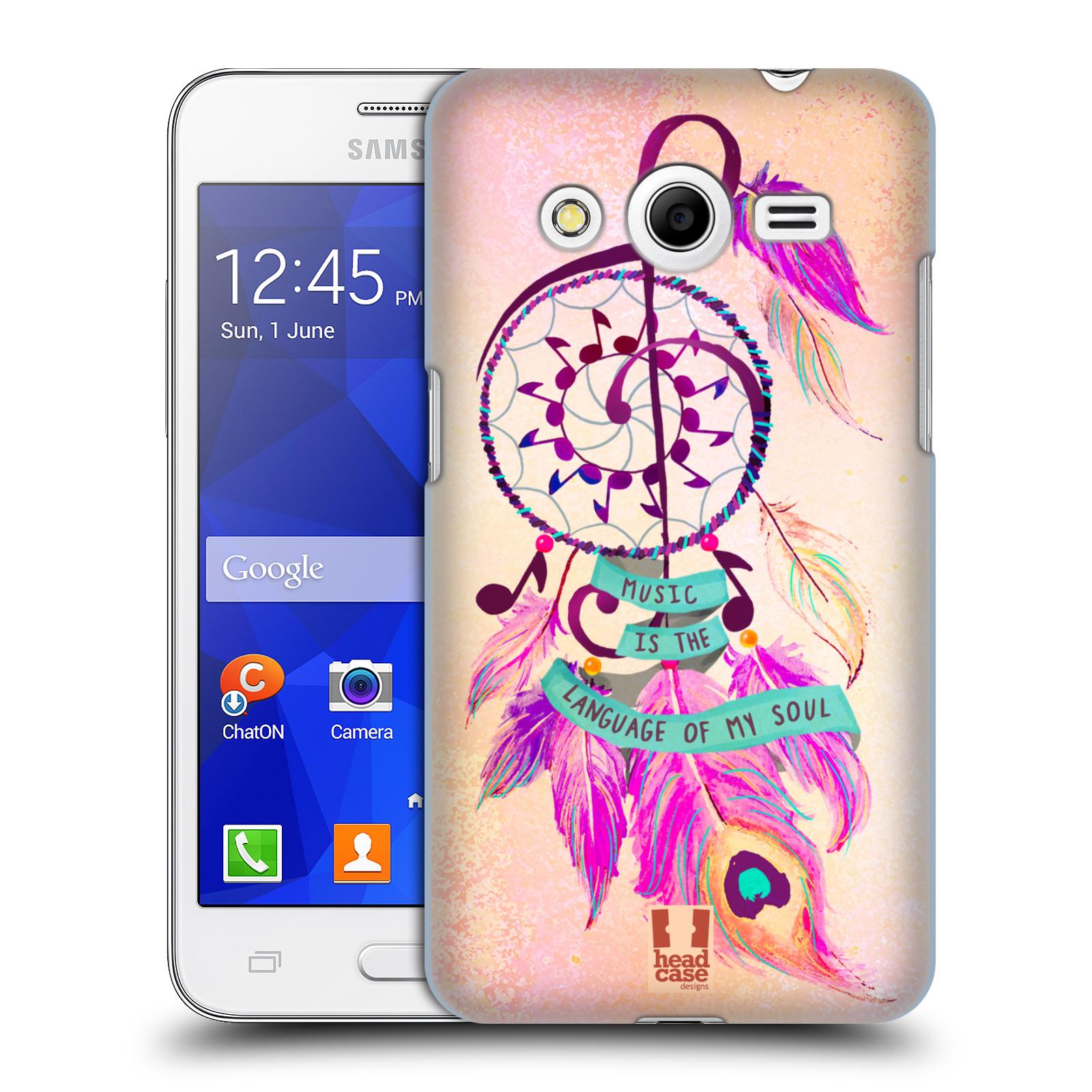 Plastové pouzdro na mobil Samsung Galaxy Core 2 HEAD CASE Lapač Assorted Music (Kryt či obal na mobilní telefon Samsung Galaxy Core 2 SM-G355H)
