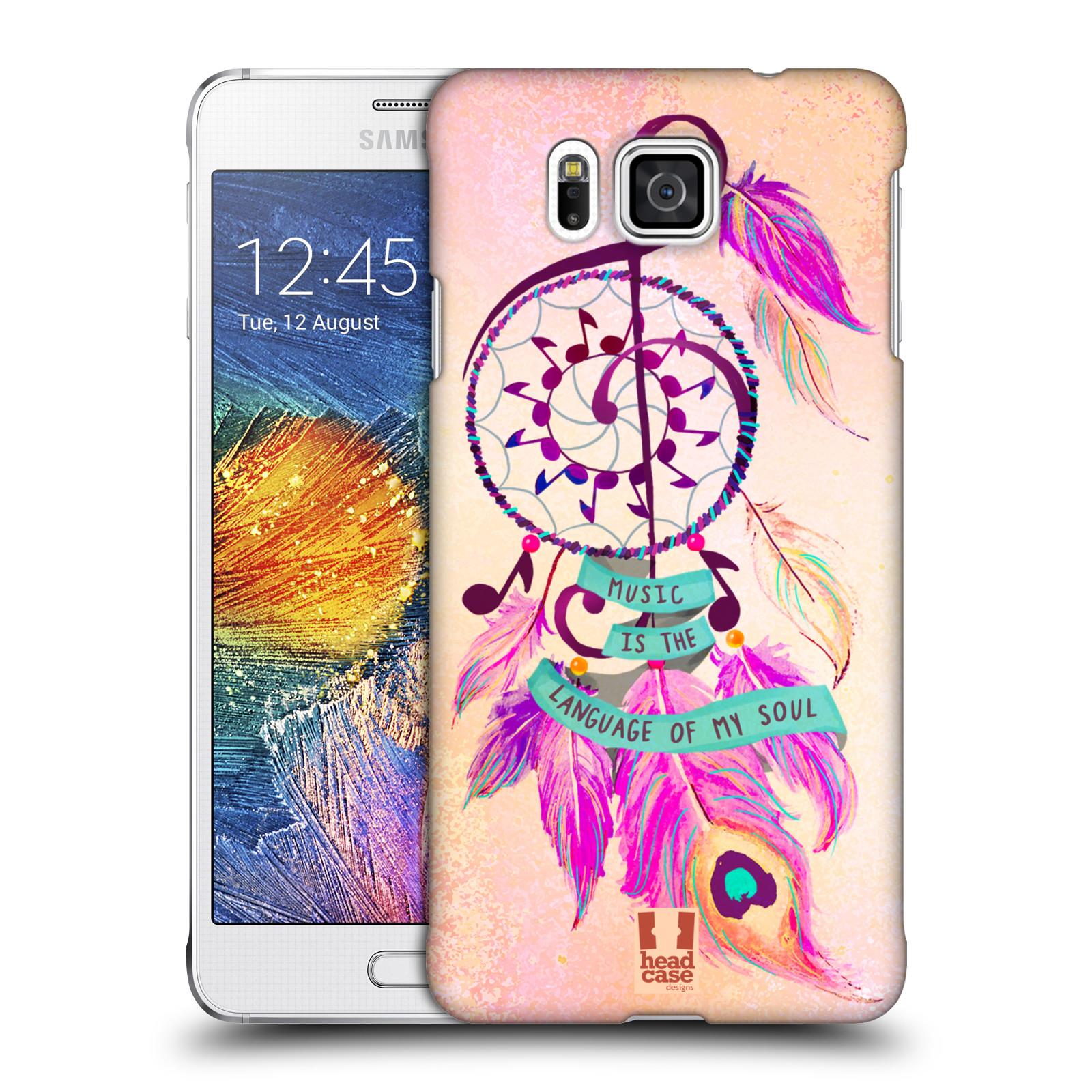 Plastové pouzdro na mobil Samsung Galaxy Alpha HEAD CASE Lapač Assorted Music