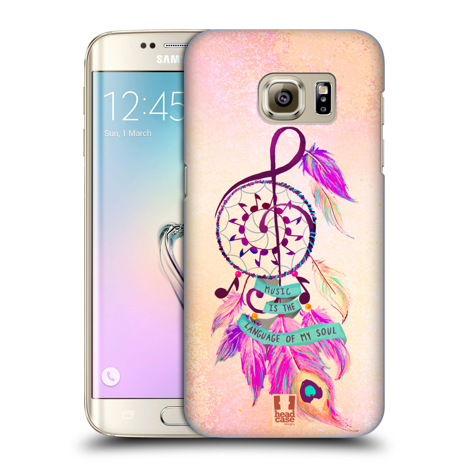 Plastové pouzdro na mobil Samsung Galaxy S7 Edge HEAD CASE Lapač Assorted Music