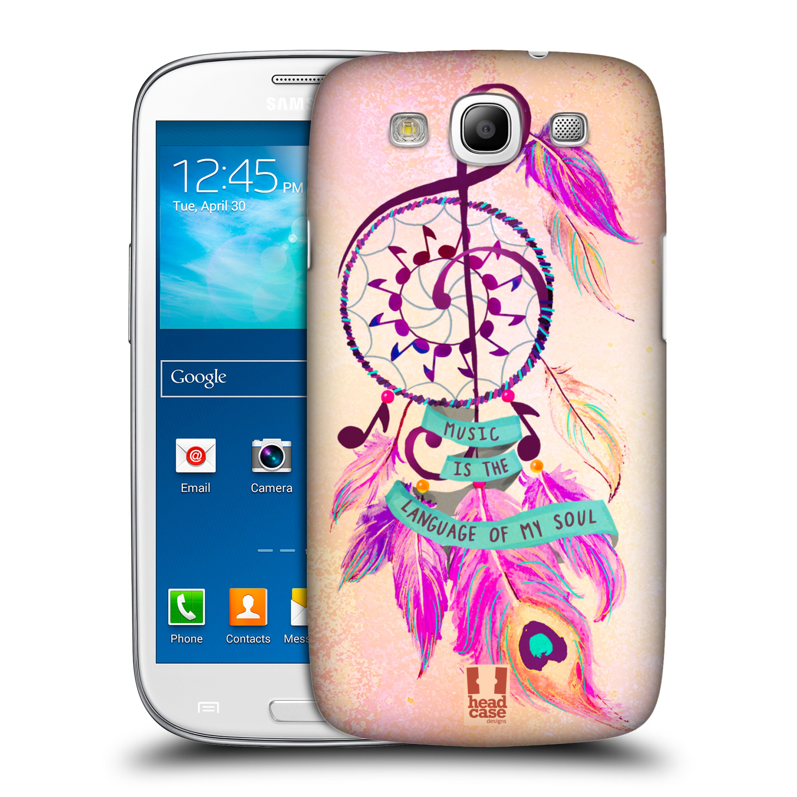 Plastové pouzdro na mobil Samsung Galaxy S III HEAD CASE Lapač Assorted Music (Kryt či obal na mobilní telefon Samsung Galaxy S III GT-i9300)