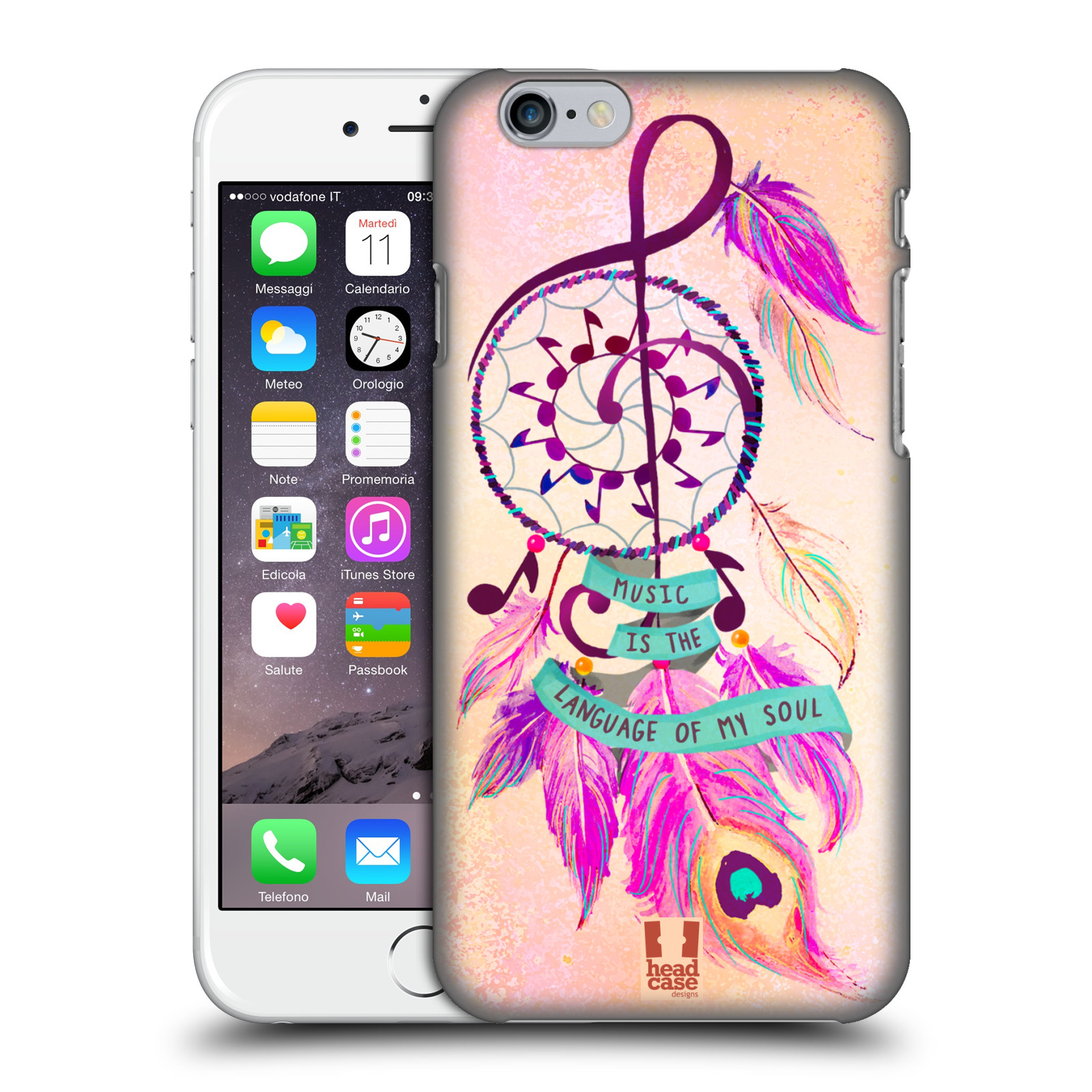 Plastové pouzdro na mobil Apple iPhone 6 HEAD CASE Lapač Assorted Music