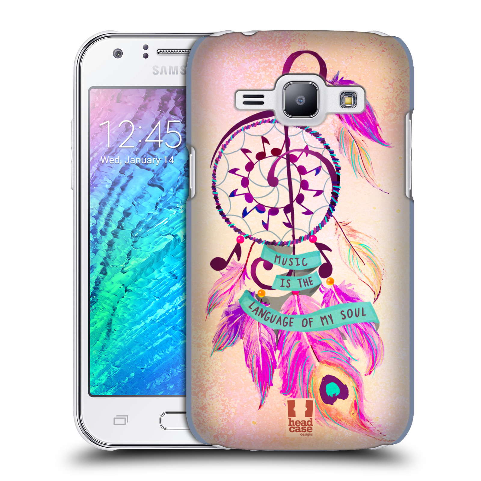 Plastové pouzdro na mobil Samsung Galaxy J1 HEAD CASE Lapač Assorted Music (Kryt či obal na mobilní telefon Samsung Galaxy J1 a J1 Duos )