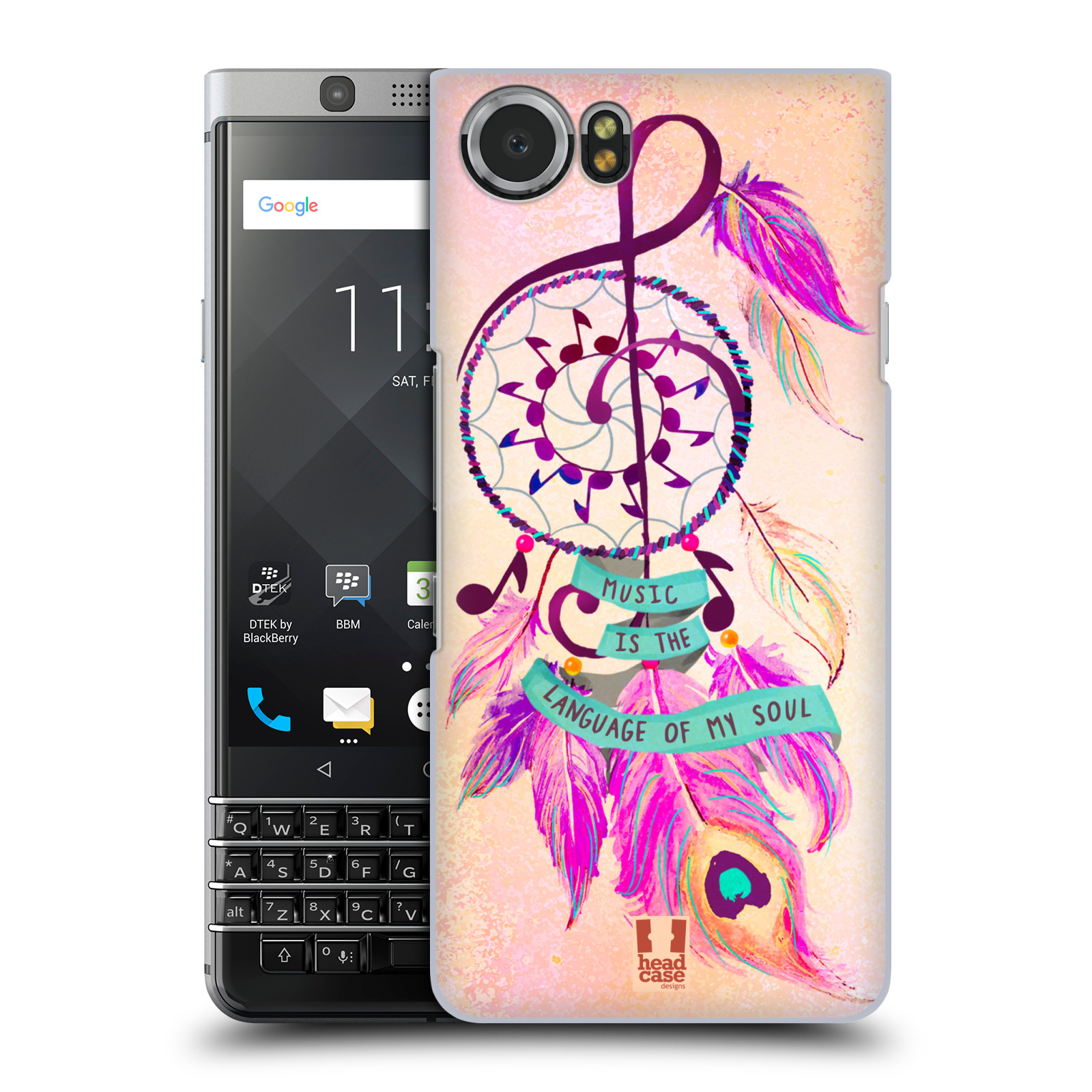 Plastové pouzdro na mobil BlackBerry KEYone - Head Case - Lapač Assorted Music