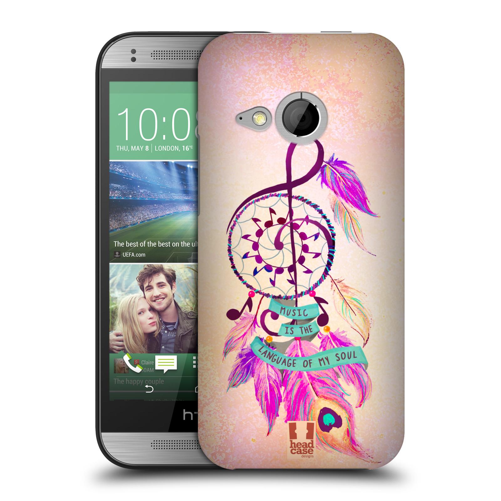 Plastové pouzdro na mobil HTC ONE Mini 2 HEAD CASE Lapač Assorted Music (Kryt či obal na mobilní telefon HTC ONE Mini 2)