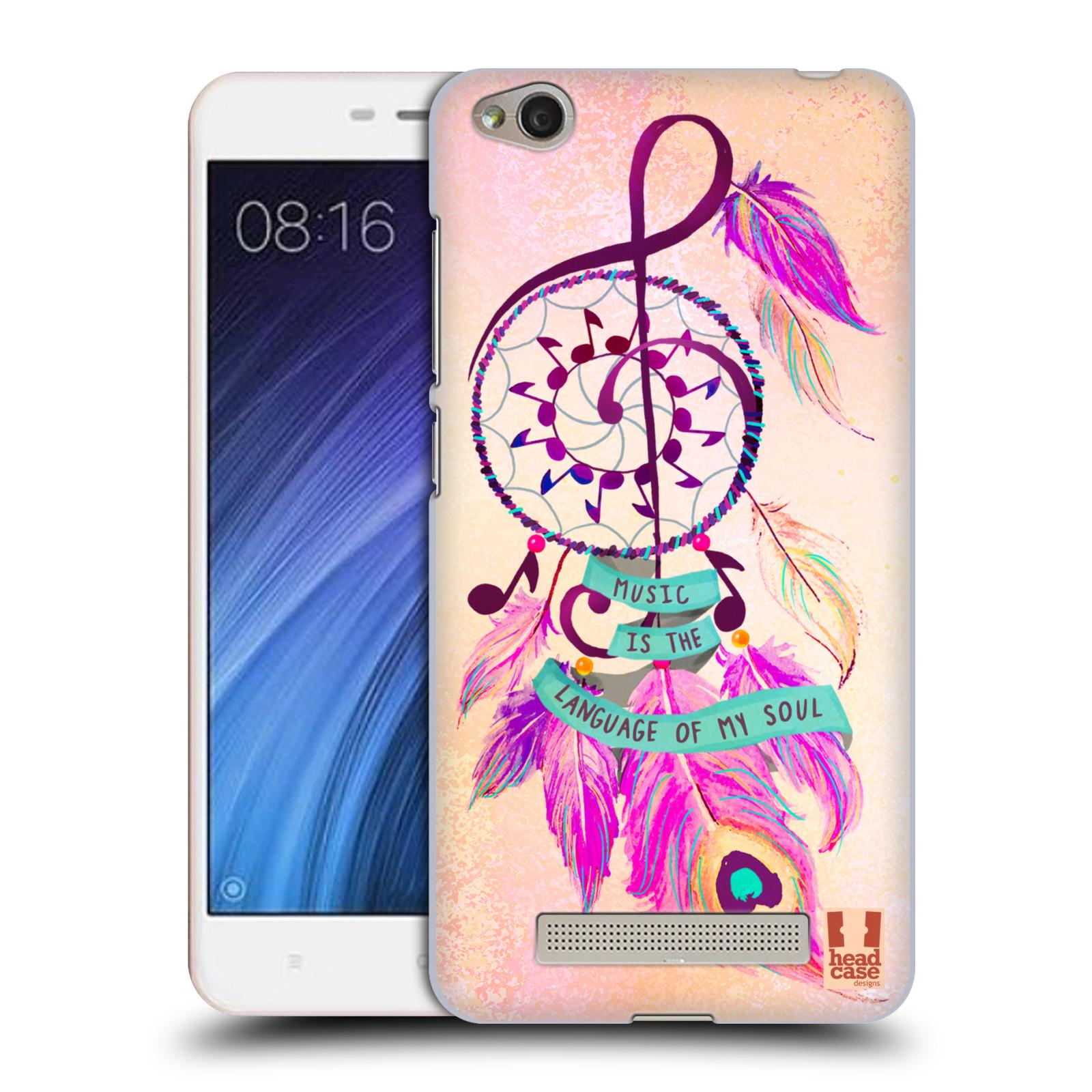 Plastové pouzdro na mobil Xiaomi Redmi 4A HEAD CASE Lapač Assorted Music