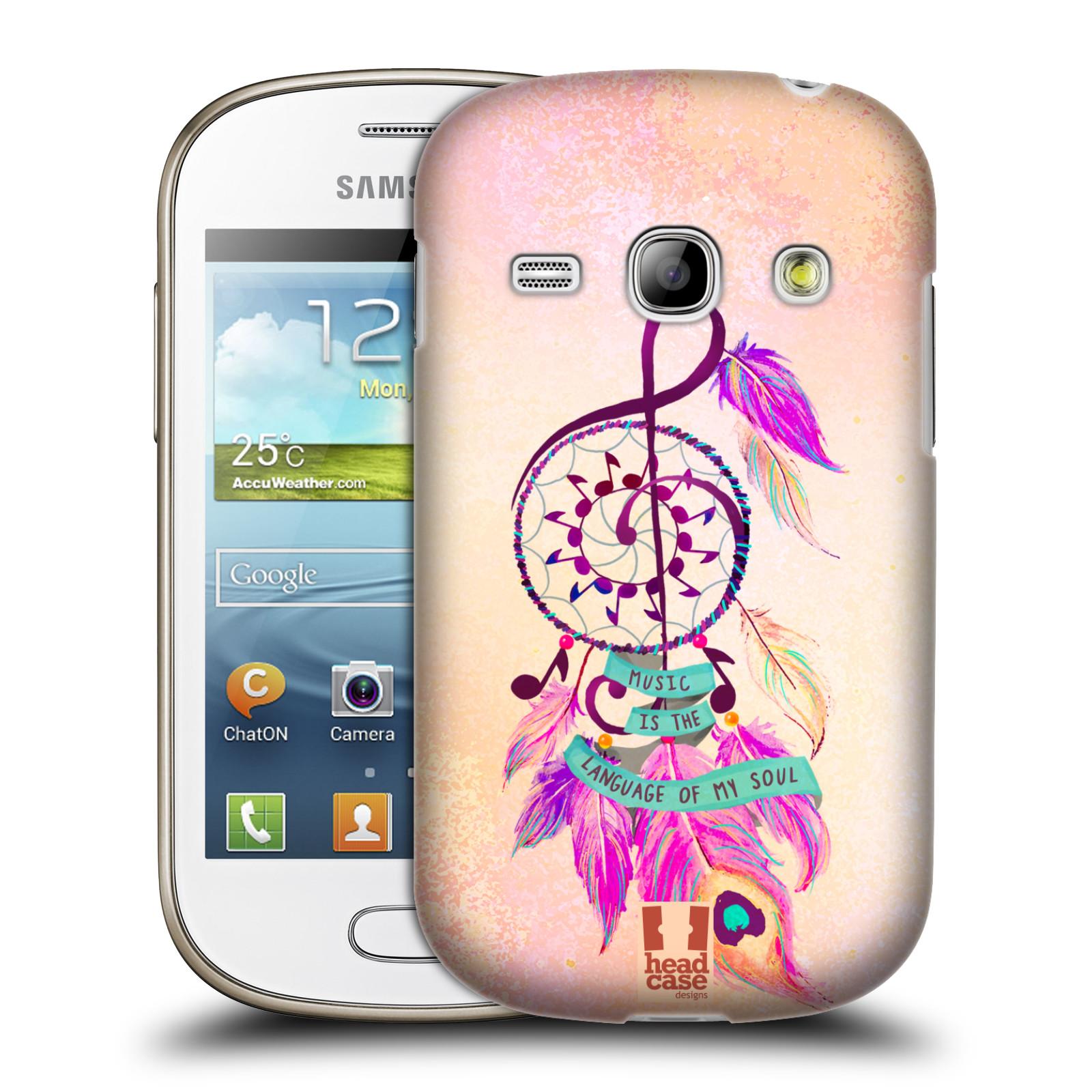 Plastové pouzdro na mobil Samsung Galaxy Fame HEAD CASE Lapač Assorted Music (Kryt či obal na mobilní telefon Samsung Galaxy Fame GT-S6810)