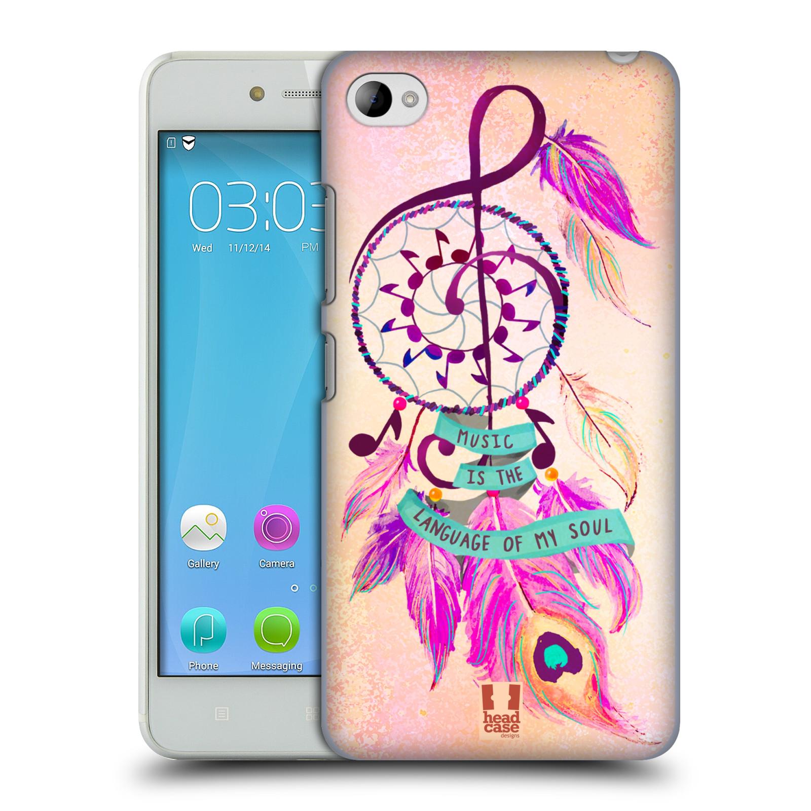 Plastové pouzdro na mobil Lenovo S90 HEAD CASE Lapač Assorted Music (Kryt či obal na mobilní telefon Lenovo S90)