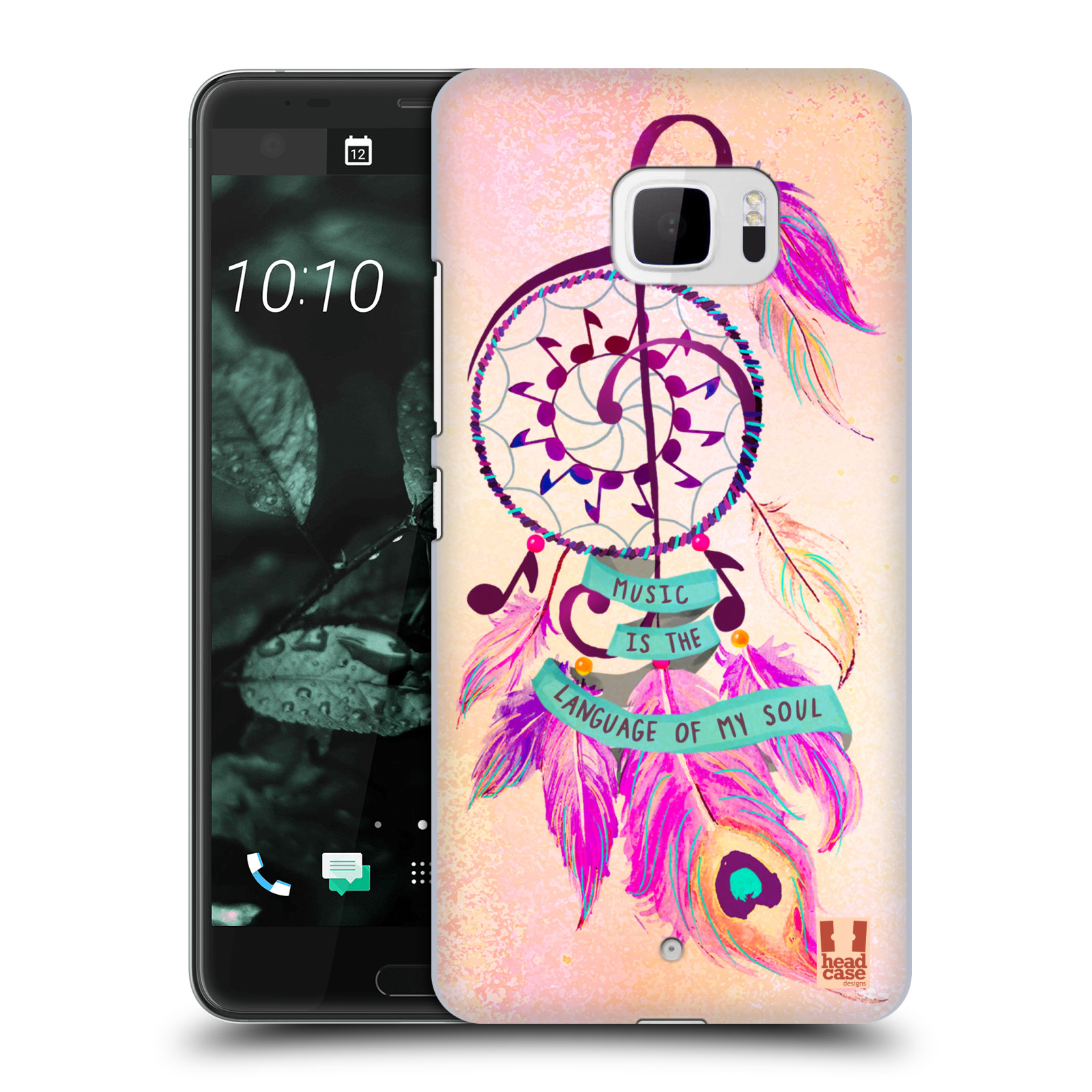 Plastové pouzdro na mobil HTC U Ultra Head Case - Lapač Assorted Music