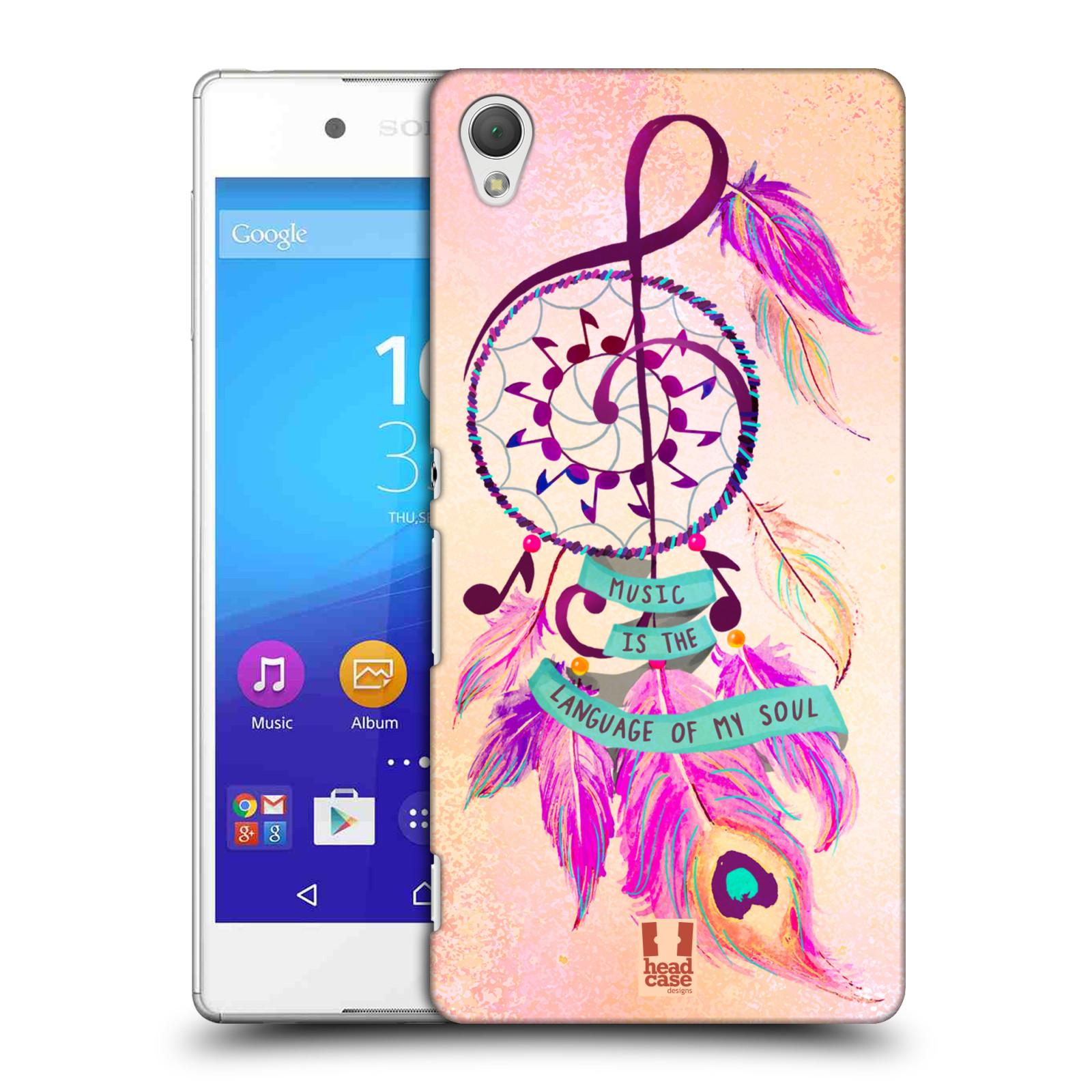 Plastové pouzdro na mobil Sony Xperia Z3+ (Plus) HEAD CASE Lapač Assorted Music (Kryt či obal na mobilní telefon Sony Xperia Z3+ a Sony Xperia Z4 )