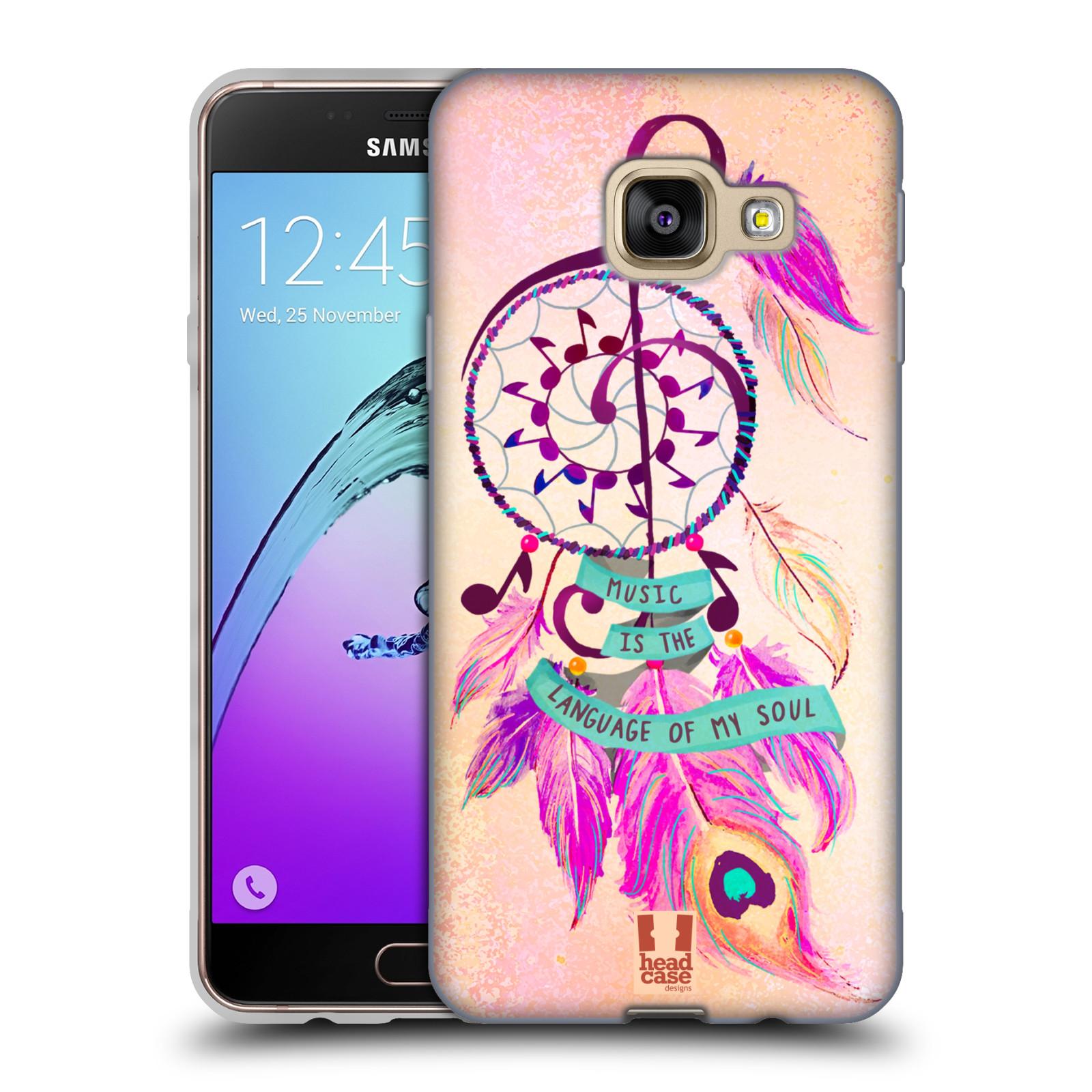 Silikonové pouzdro na mobil Samsung Galaxy A3 (2016) HEAD CASE Lapač Assorted Music