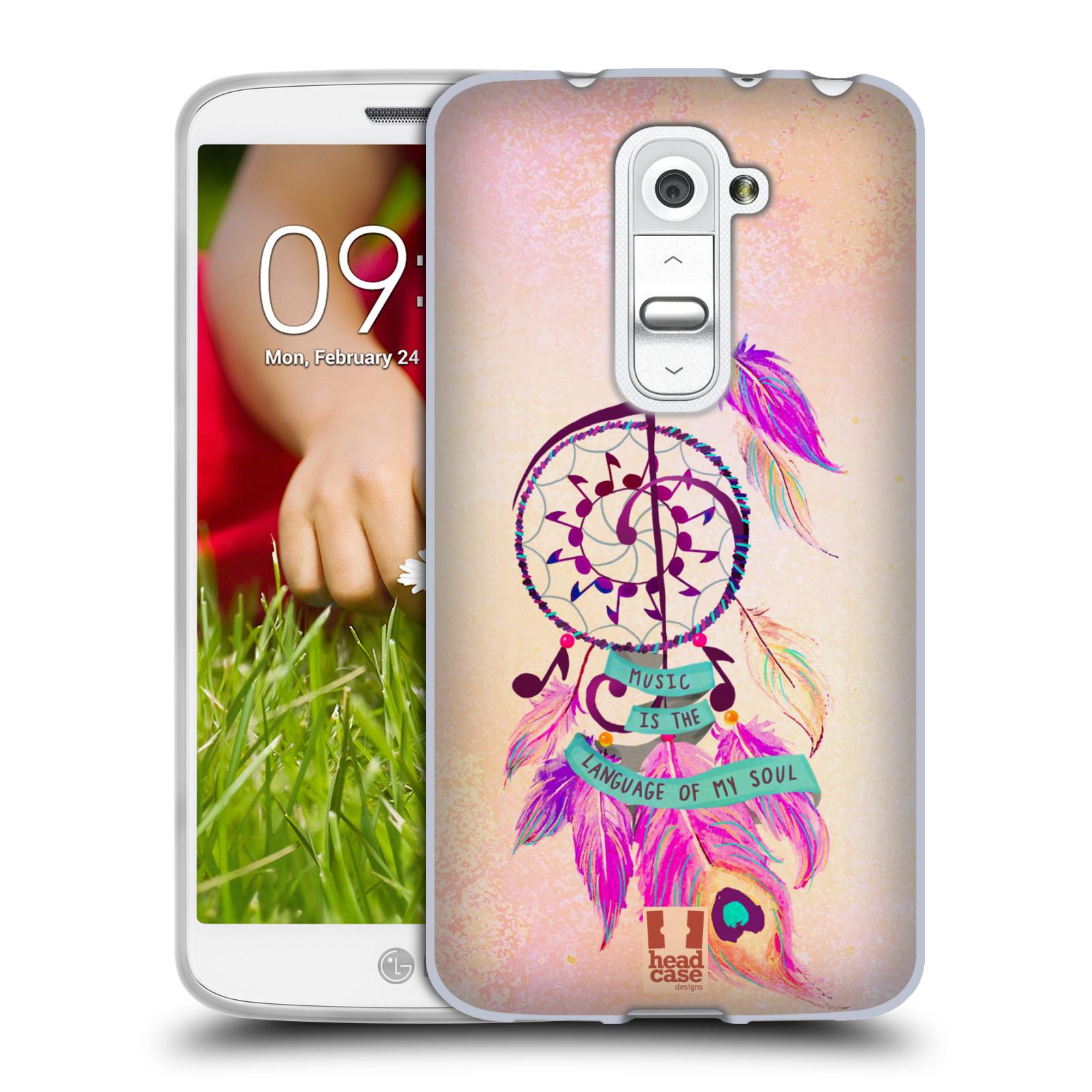 Silikonové pouzdro na mobil LG G2 Mini HEAD CASE Lapač Assorted Music (Silikonový kryt či obal na mobilní telefon LG G2 Mini D620)