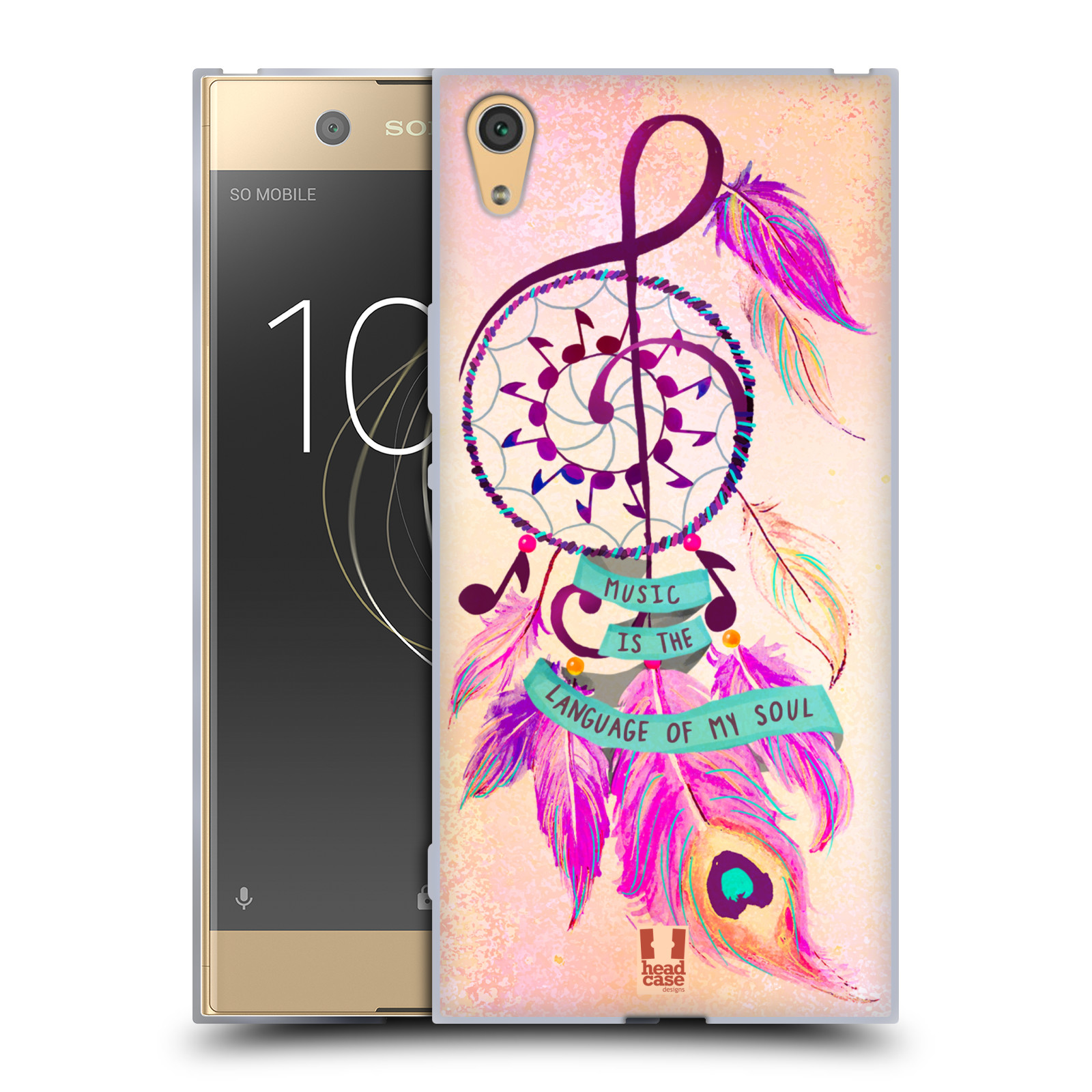 Silikonové pouzdro na mobil Sony Xperia XA1 Ultra - Head Case - Lapač Assorted Music