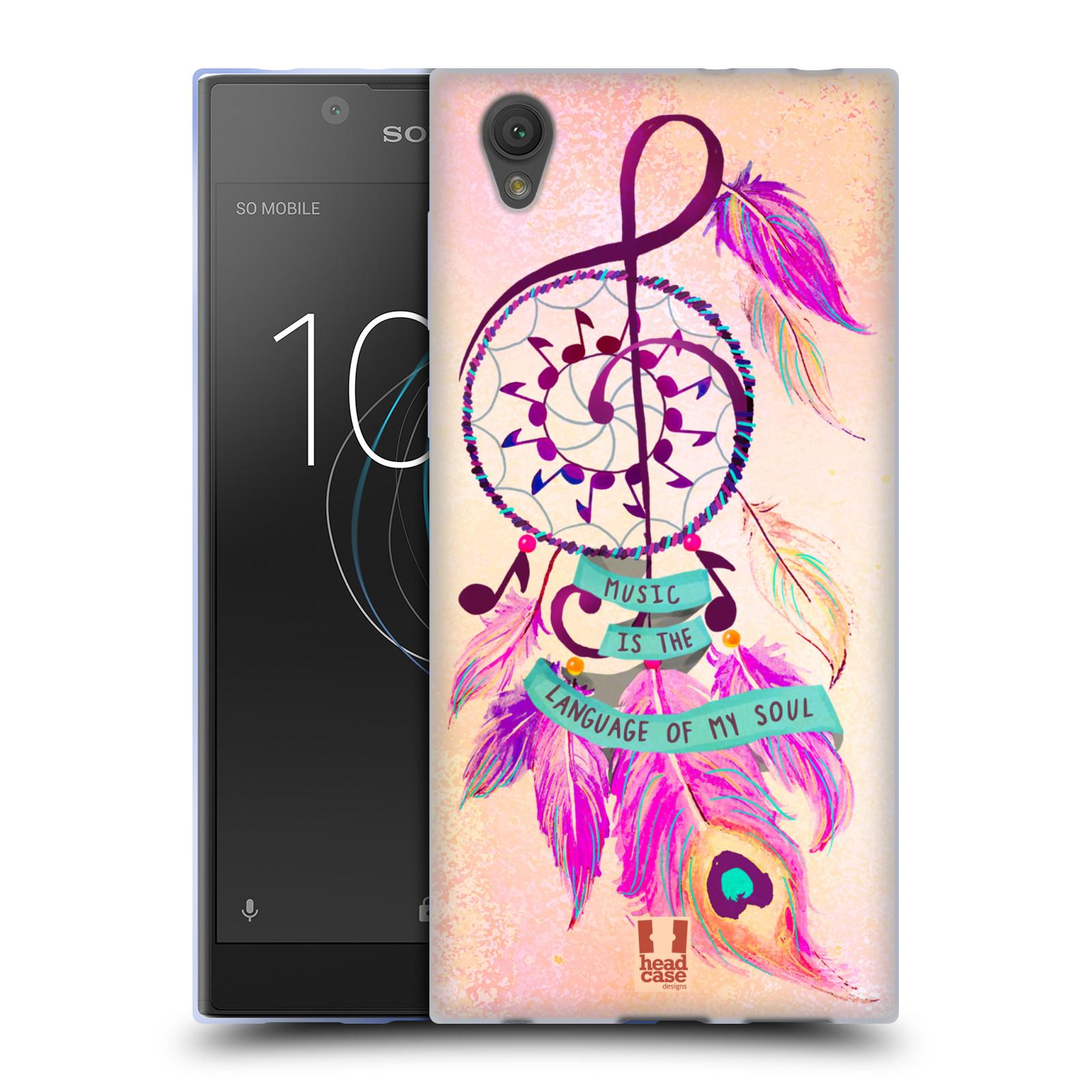 Silikonové pouzdro na mobil Sony Xperia L1 - Head Case - Lapač Assorted Music