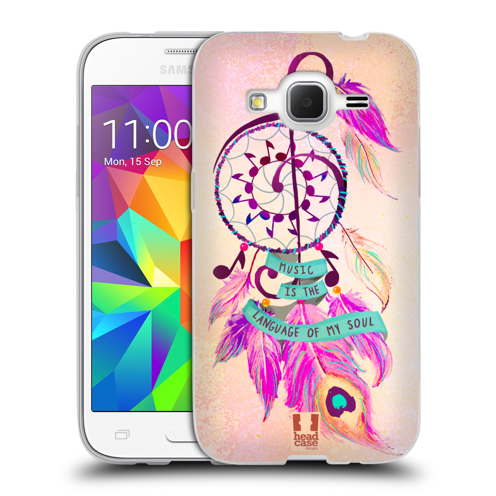 Silikonové pouzdro na mobil Samsung Galaxy Core Prime VE HEAD CASE Lapač Assorted Music