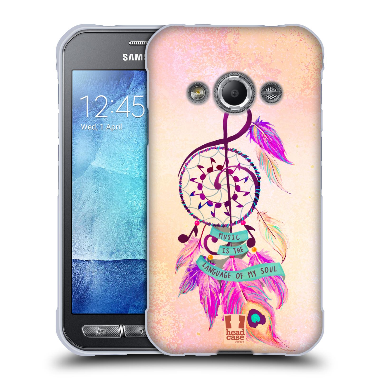Silikonové pouzdro na mobil Samsung Galaxy Xcover 3 HEAD CASE Lapač Assorted Music