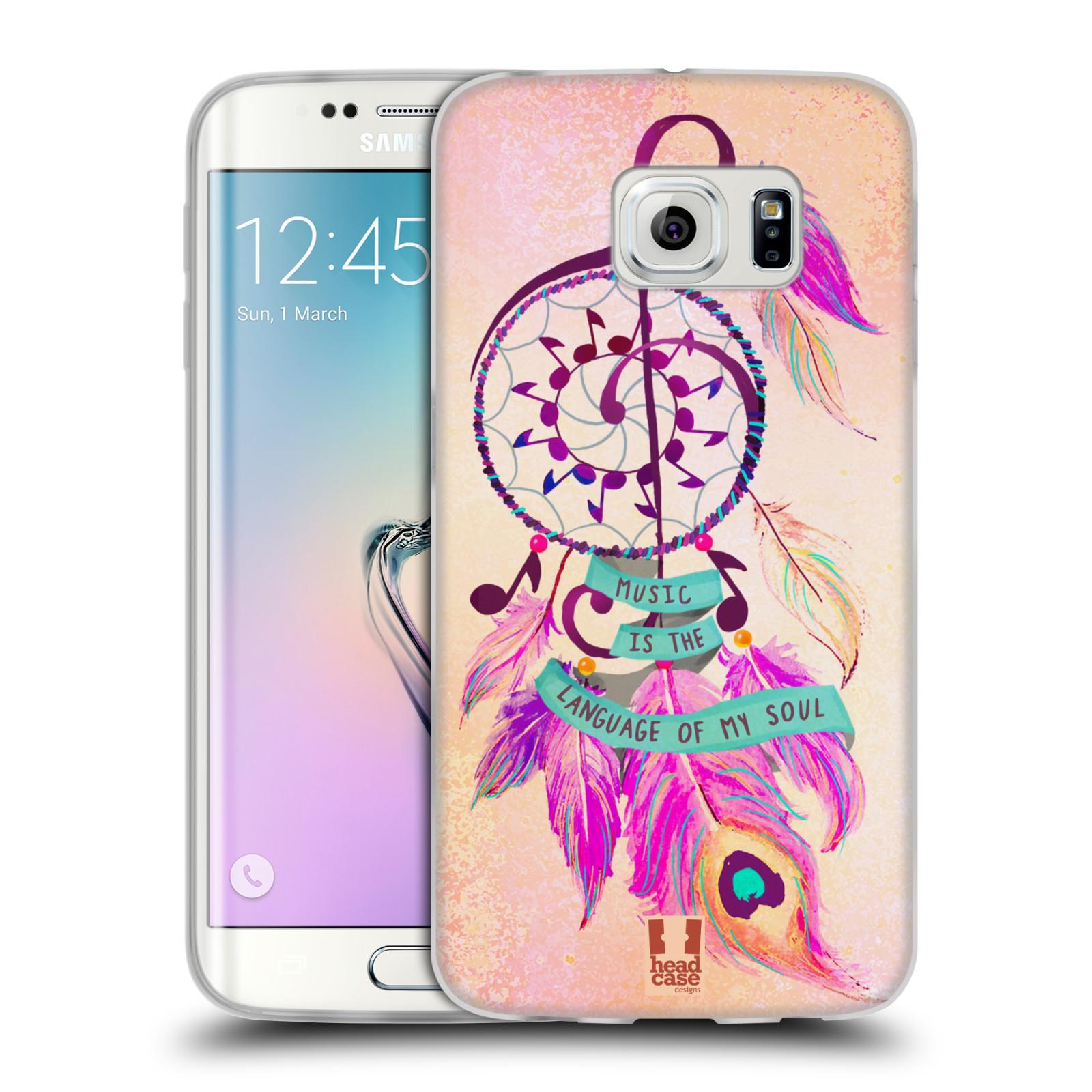 Silikonové pouzdro na mobil Samsung Galaxy S6 Edge HEAD CASE Lapač Assorted Music (Silikonový kryt či obal na mobilní telefon Samsung Galaxy S6 Edge SM-G925F)