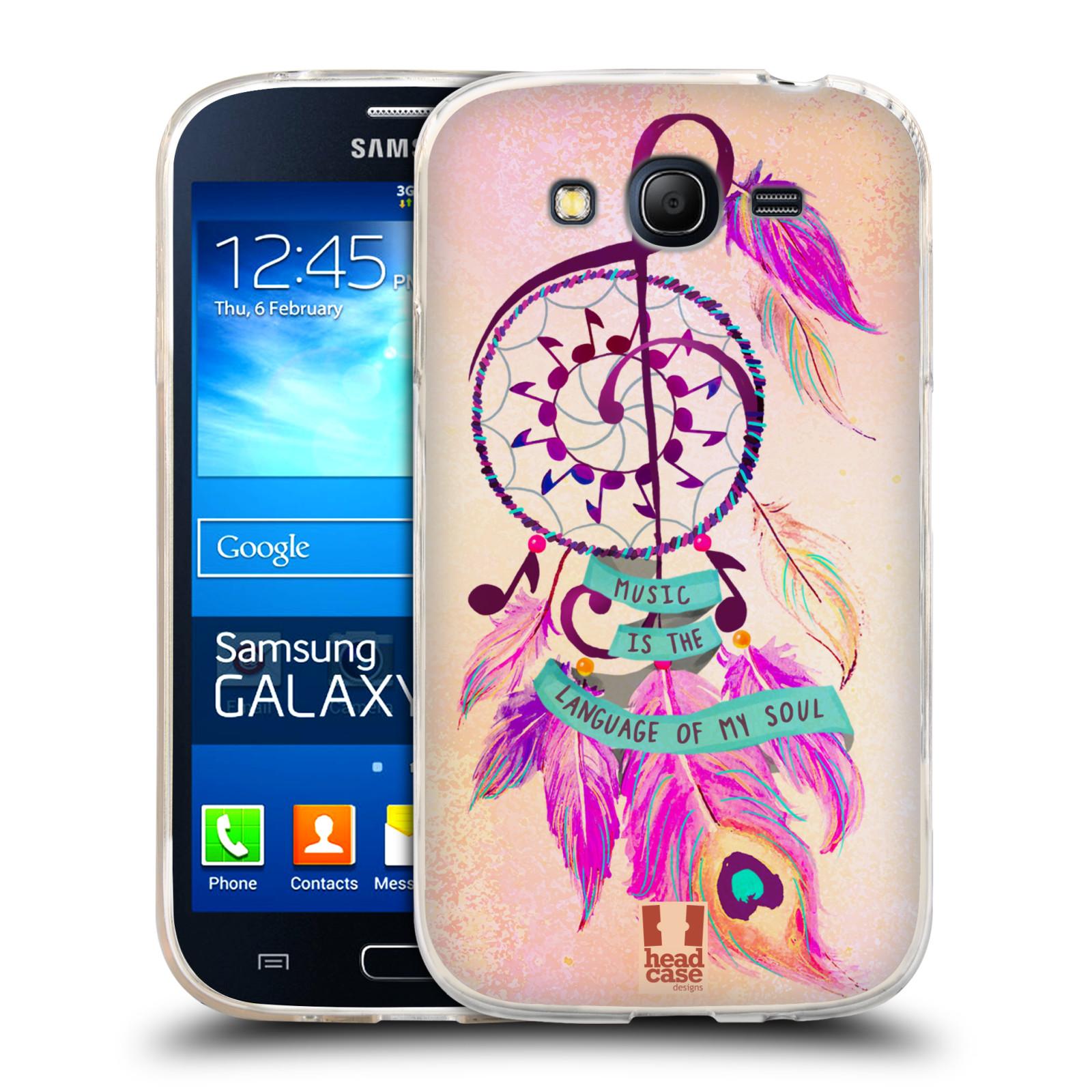 Silikonové pouzdro na mobil Samsung Galaxy Grand Neo HEAD CASE Lapač Assorted Music