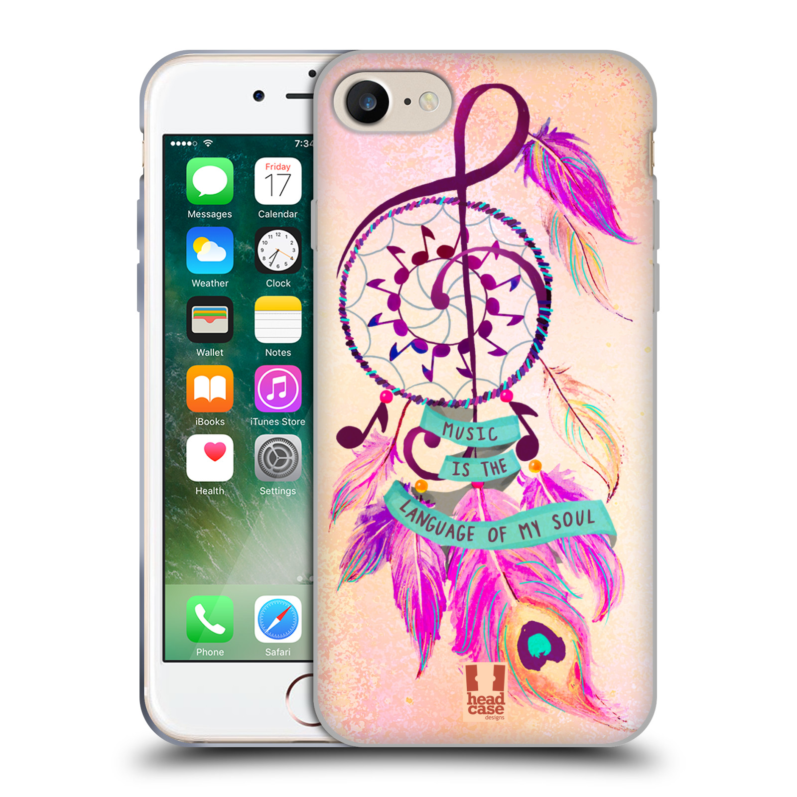 Silikonové pouzdro na mobil Apple iPhone 8 - Head Case - Lapač Assorted Music