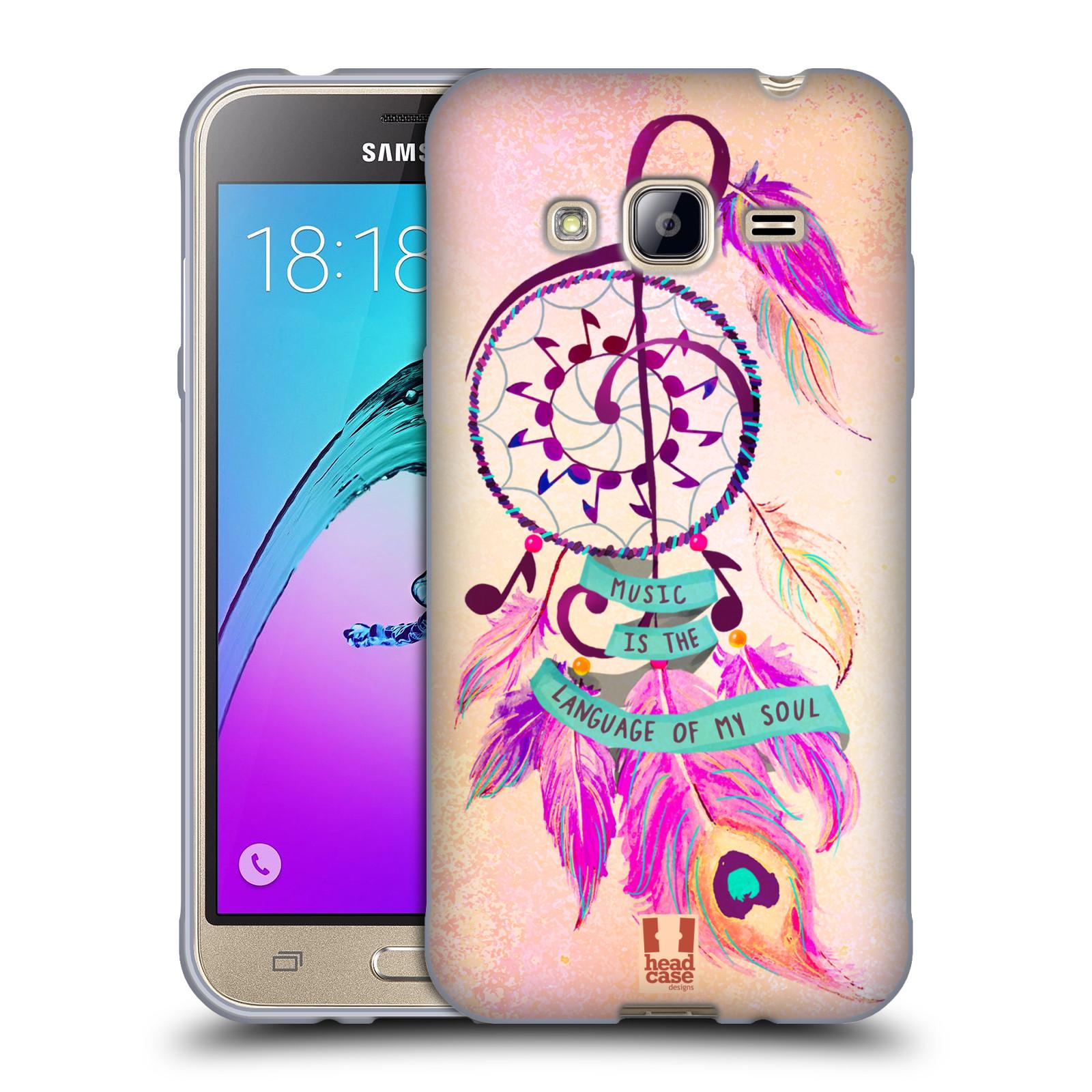 Silikonové pouzdro na mobil Samsung Galaxy J3 (2016) HEAD CASE Lapač Assorted Music