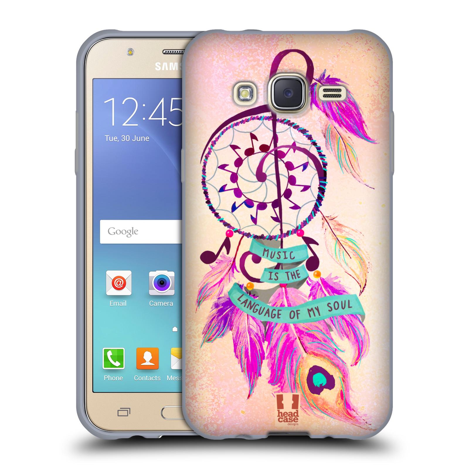 Silikonové pouzdro na mobil Samsung Galaxy J5 HEAD CASE Lapač Assorted Music