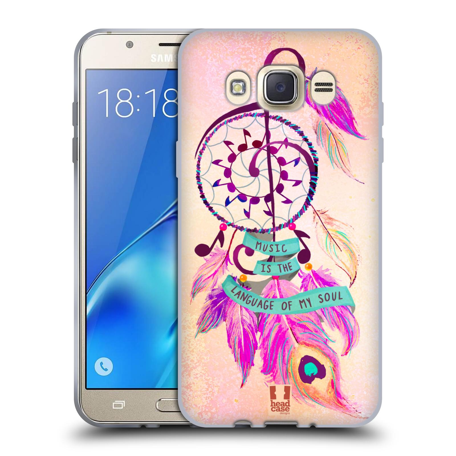 Silikonové pouzdro na mobil Samsung Galaxy J7 (2016) HEAD CASE Lapač Assorted Music