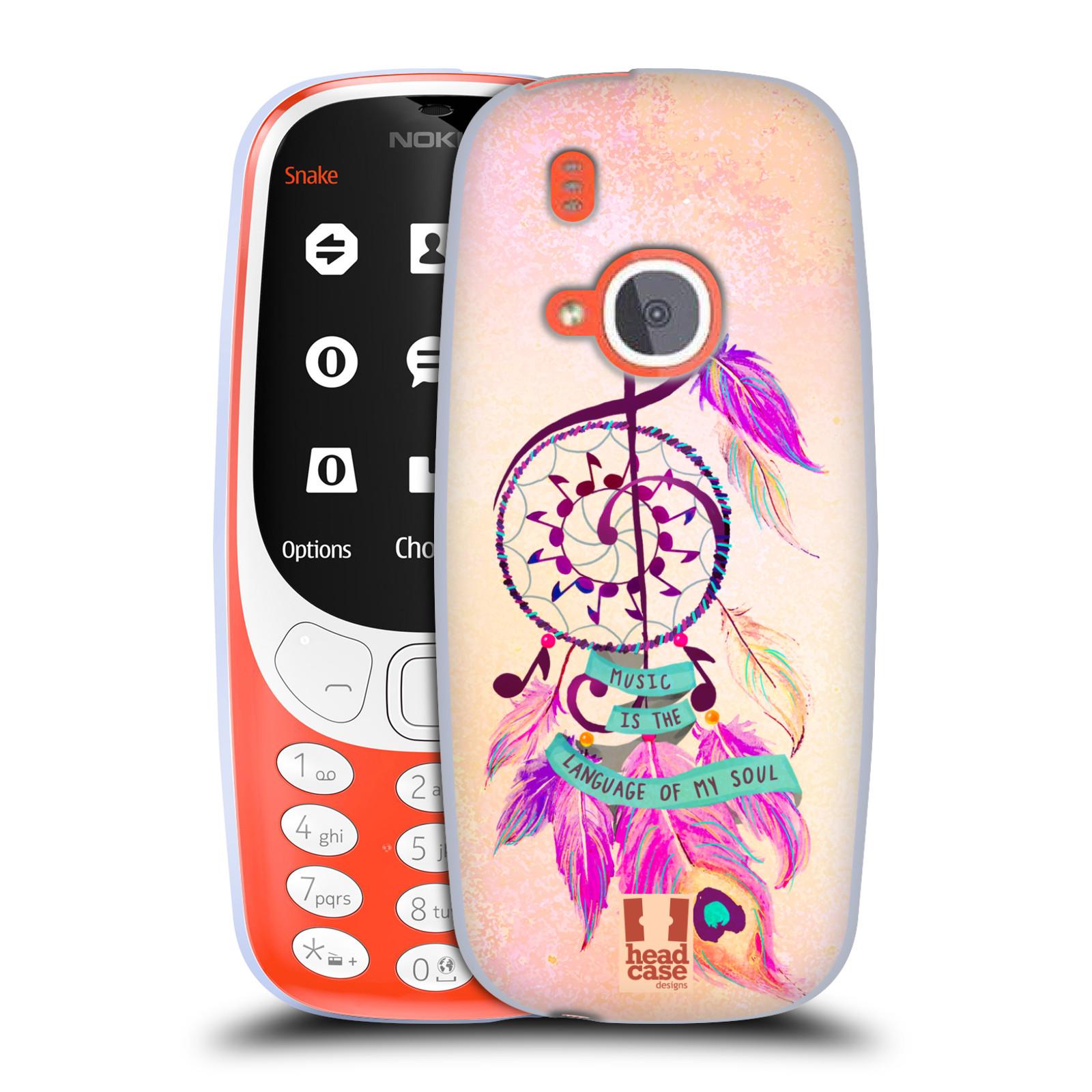 Silikonové pouzdro na mobil Nokia 3310 - Head Case - Lapač Assorted Music